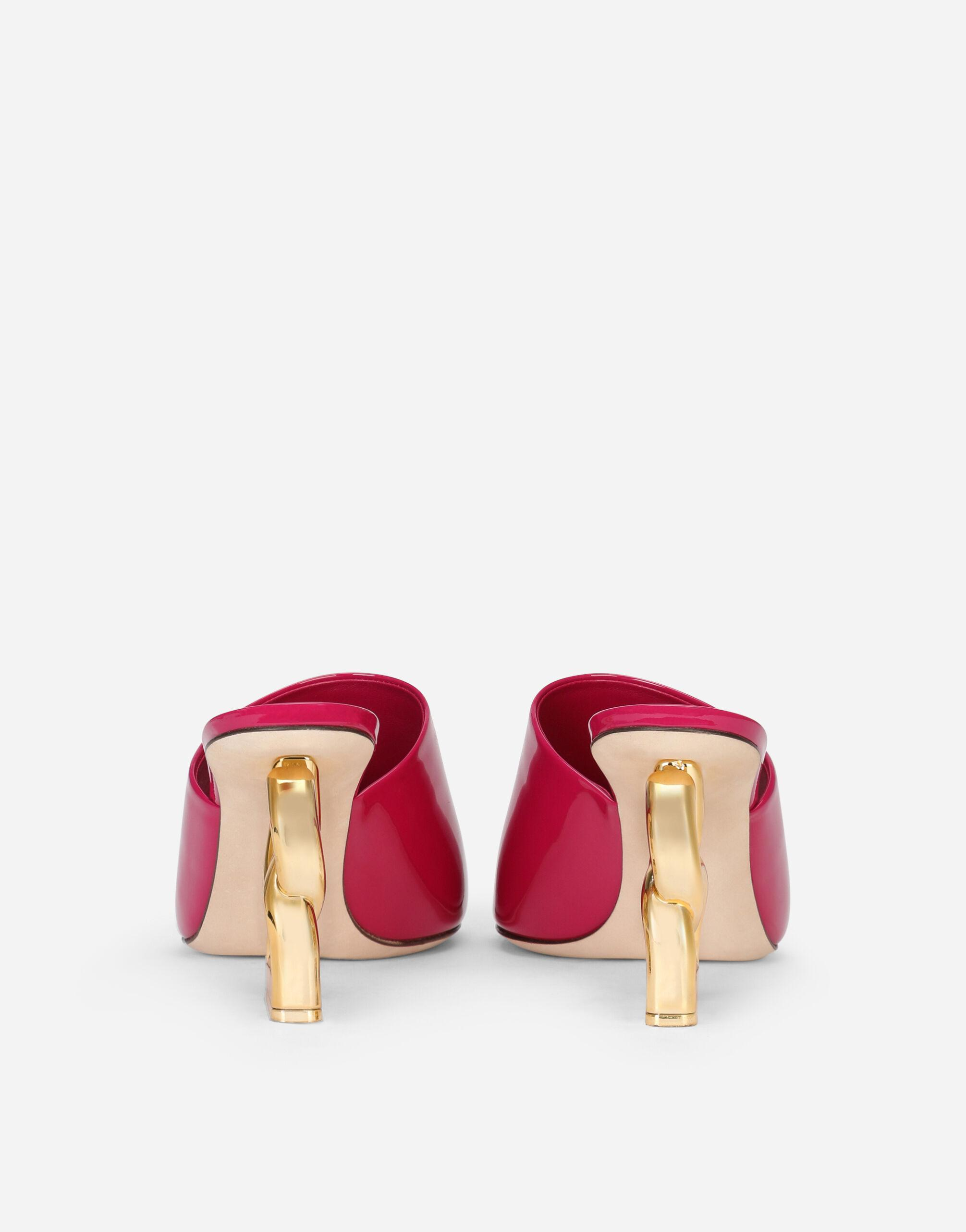 Patent leather mules with DG Pop heel 2