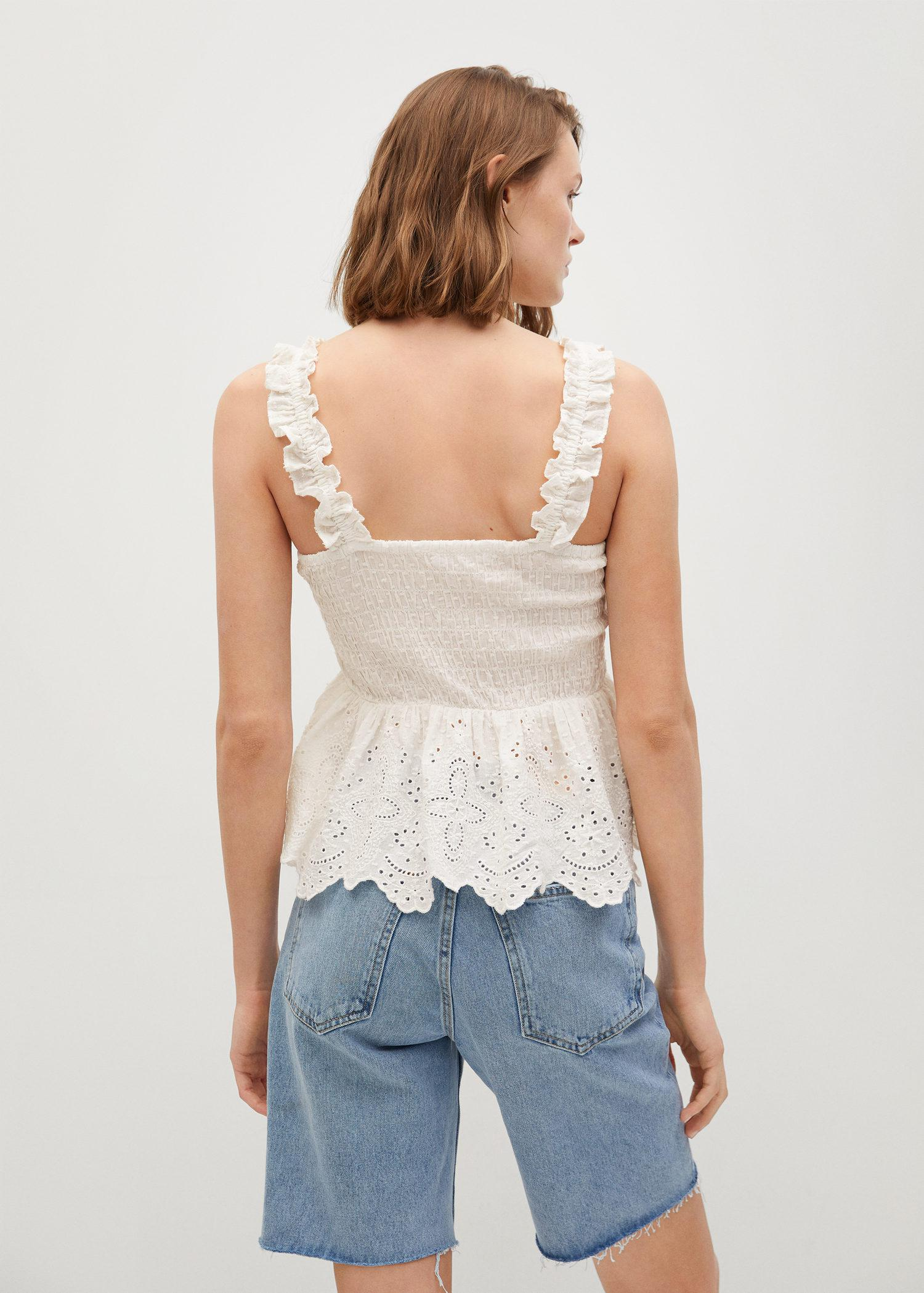 Broderie anglaise panel top 2