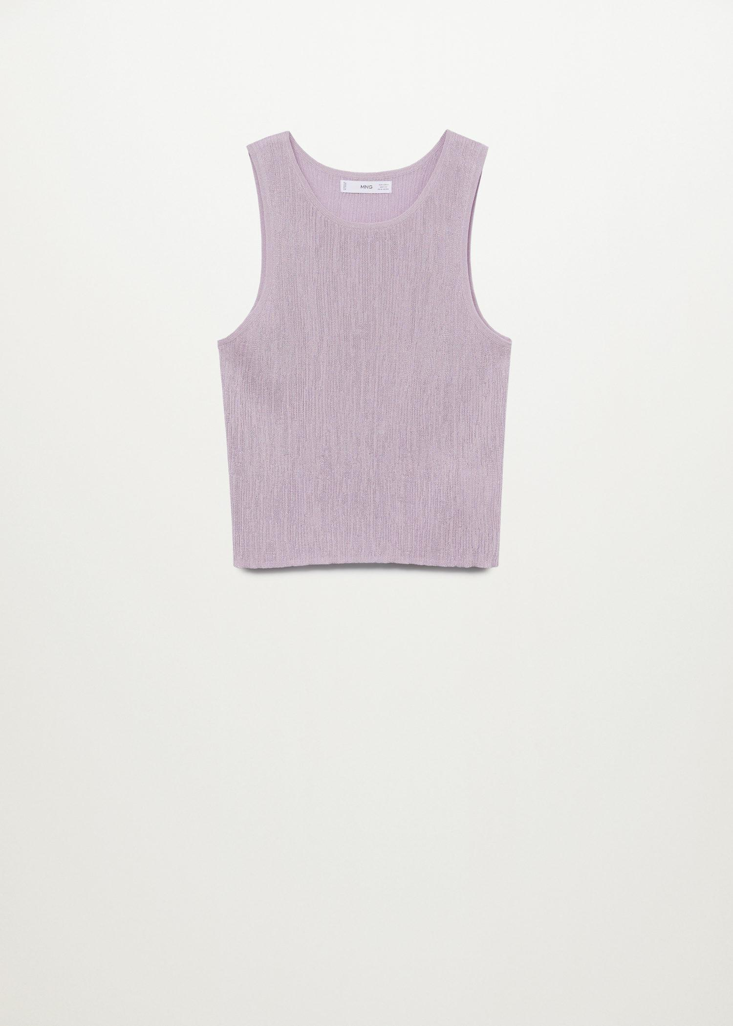 Embossed knit top 6