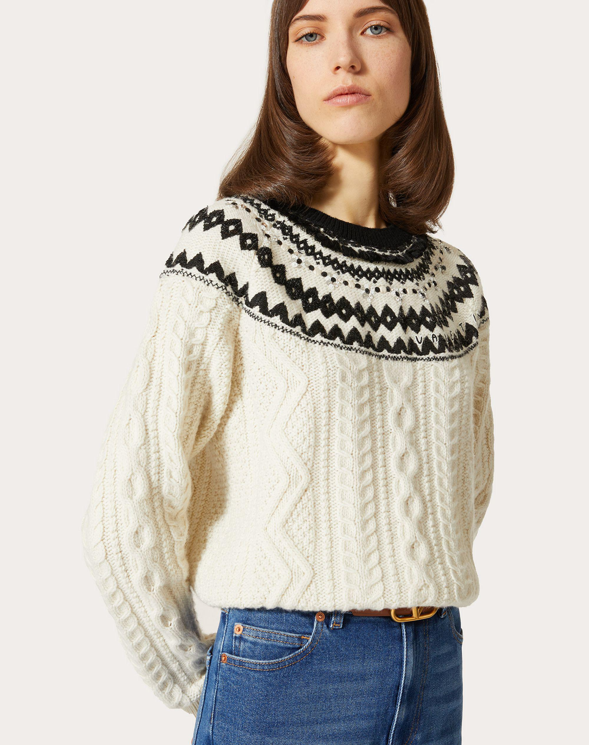 EMBROIDERED WOOL SWEATER 3