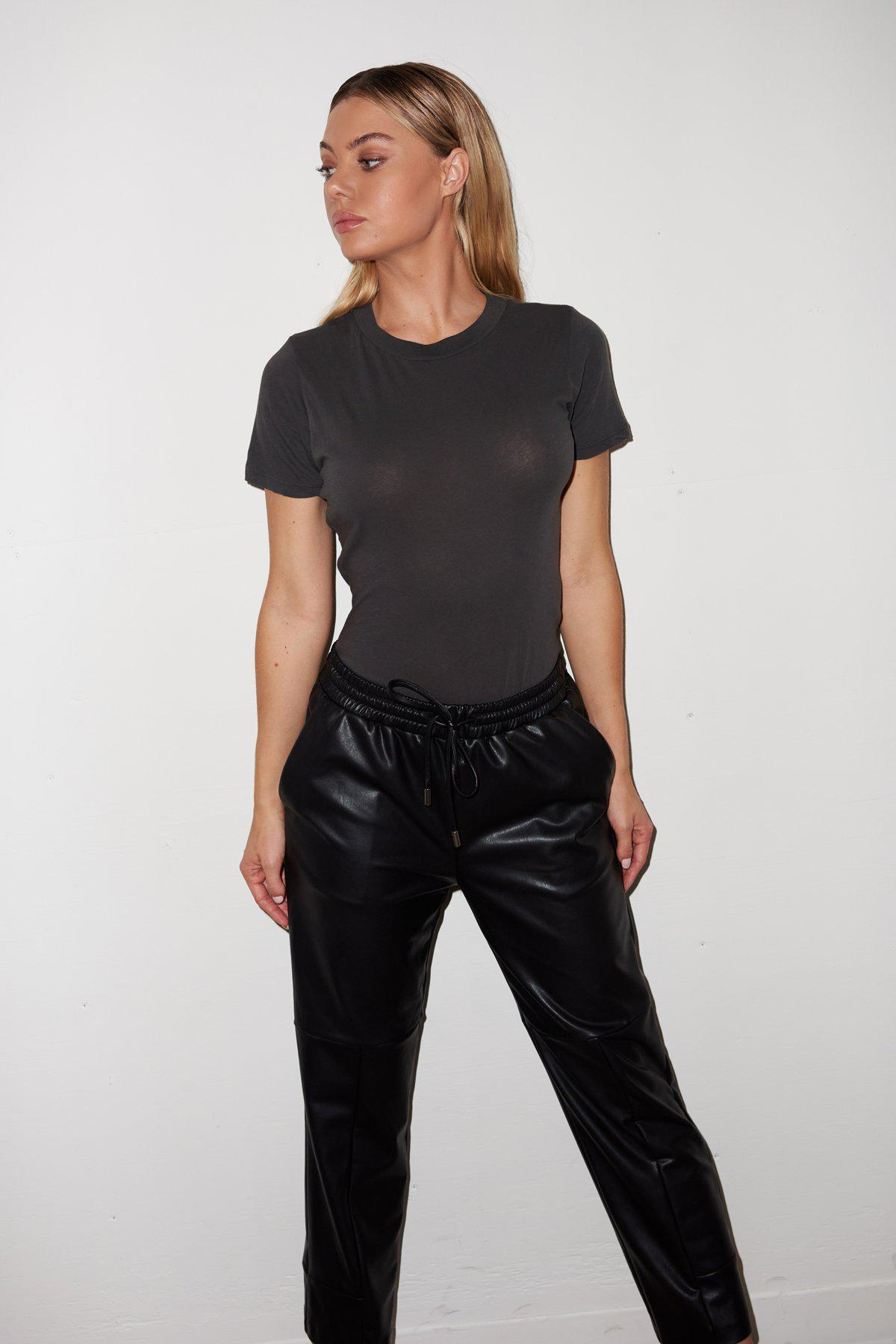 Short Sleeve Fitted Bodysuit - Pirate Black