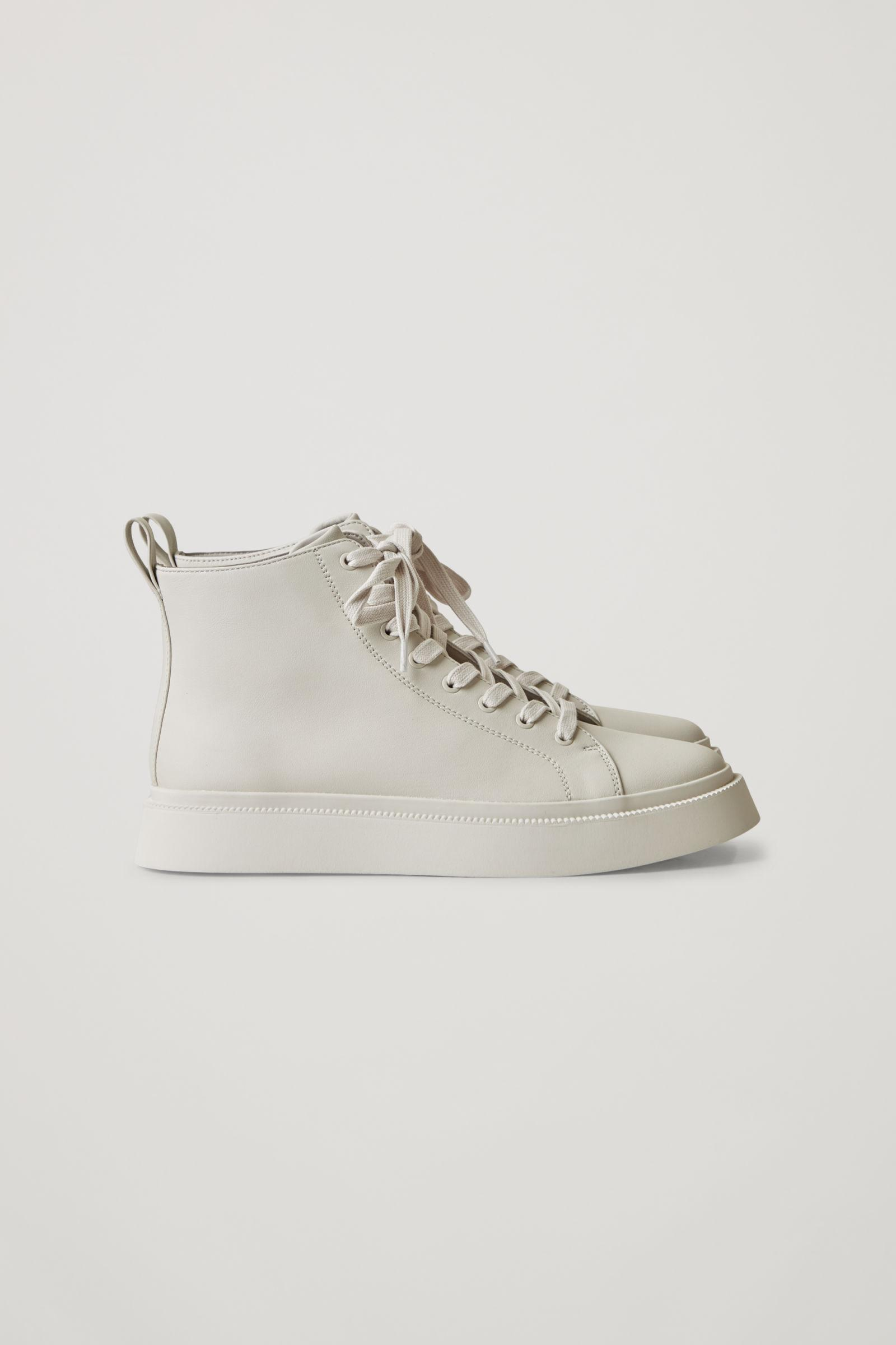 LEATHER HIGH TOP SNEAKERS 2