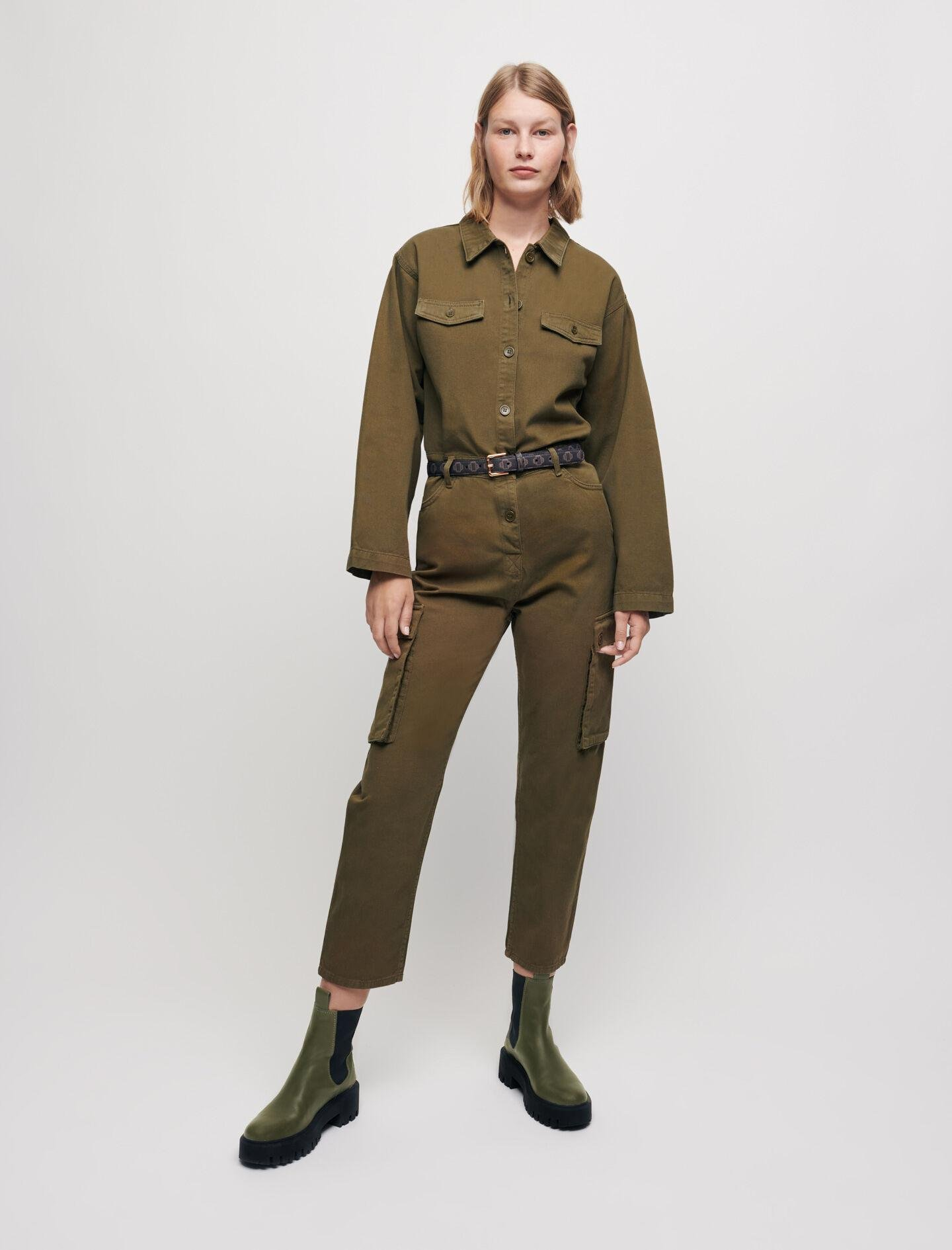 MILITARY-STYLE WORKWEAR JUMPSUIT