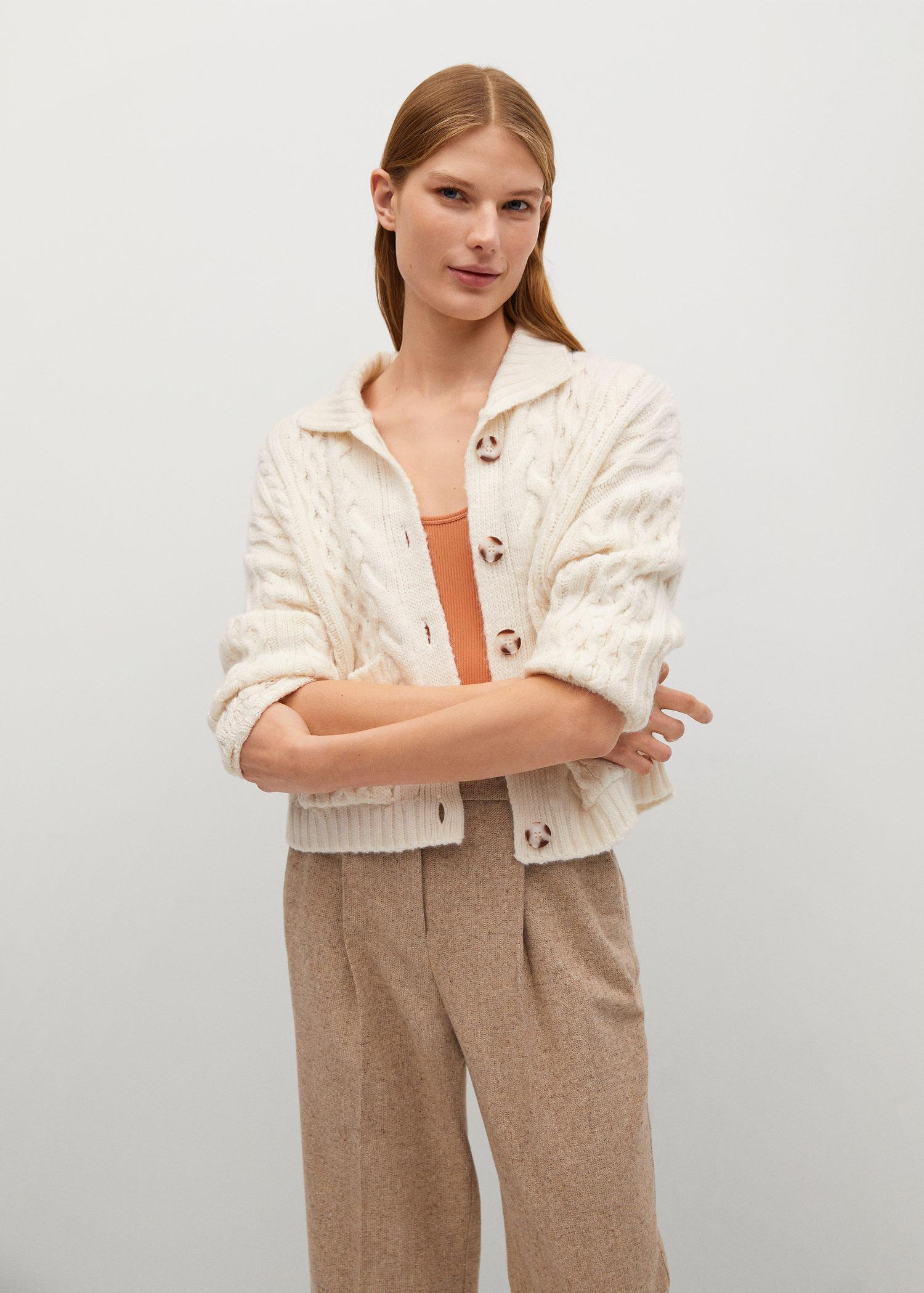 Combined knitted cardigan 0