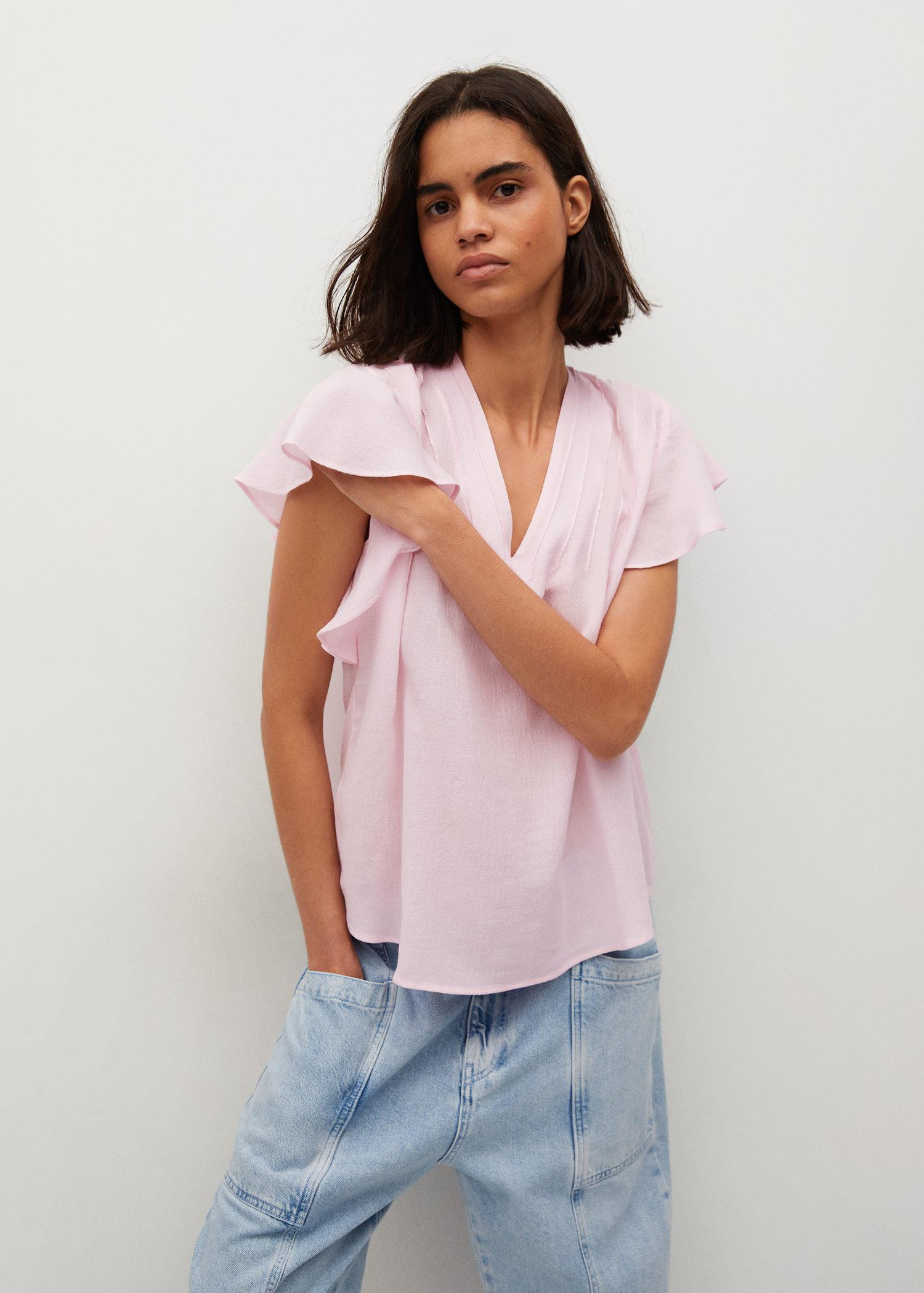 Bow textured blouse