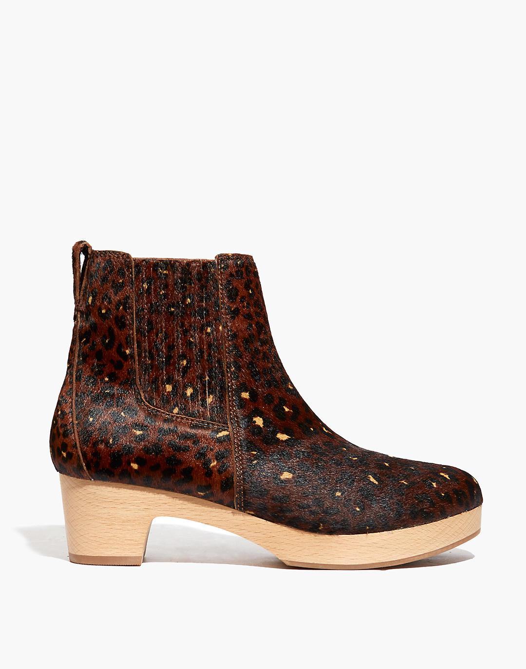 The Clog Boot in Painted Leopard Calf Hair 1
