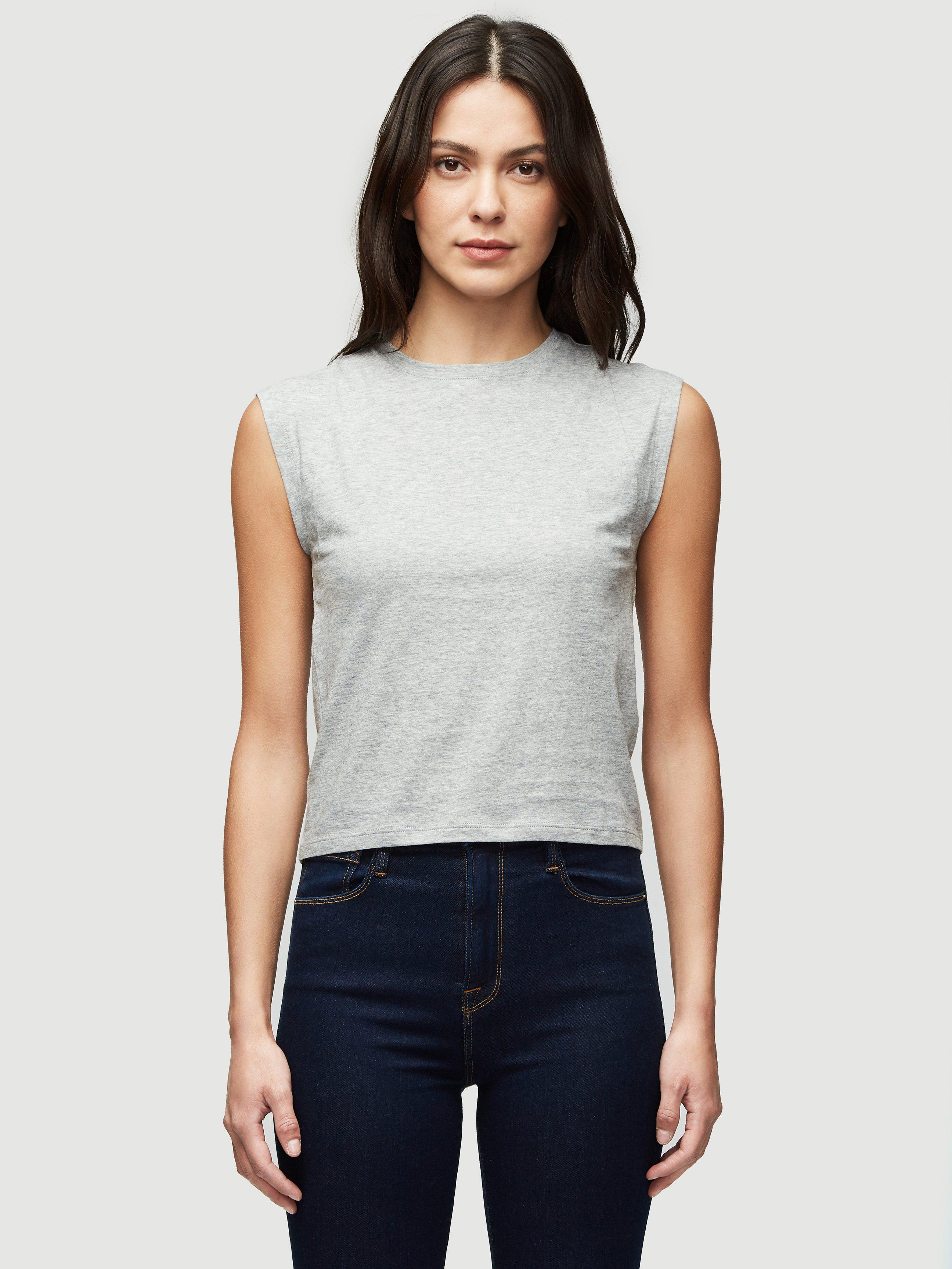 Le High Rise Muscle Tee -- Gris Heather