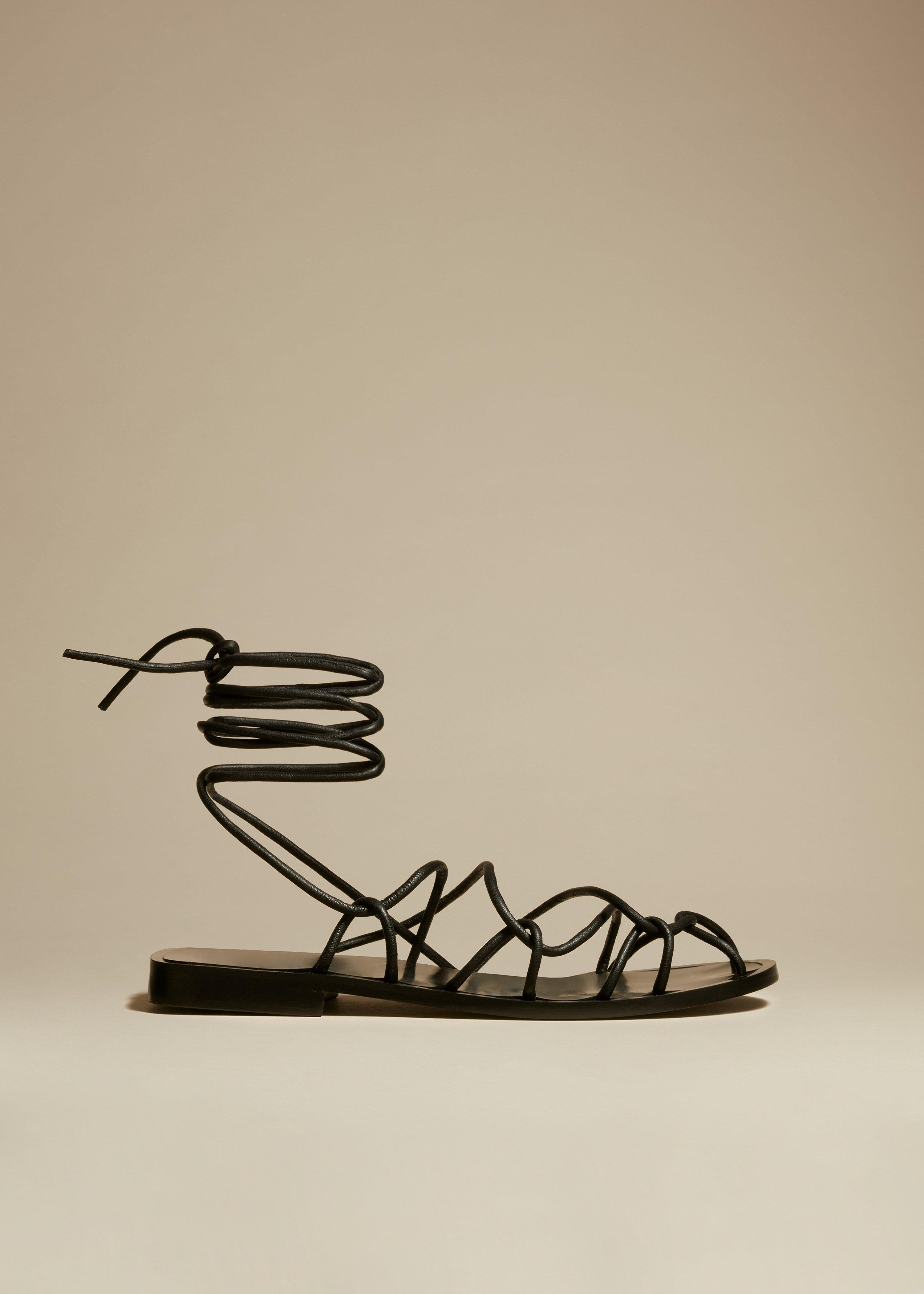 The Lyon Sandal in Black Leather