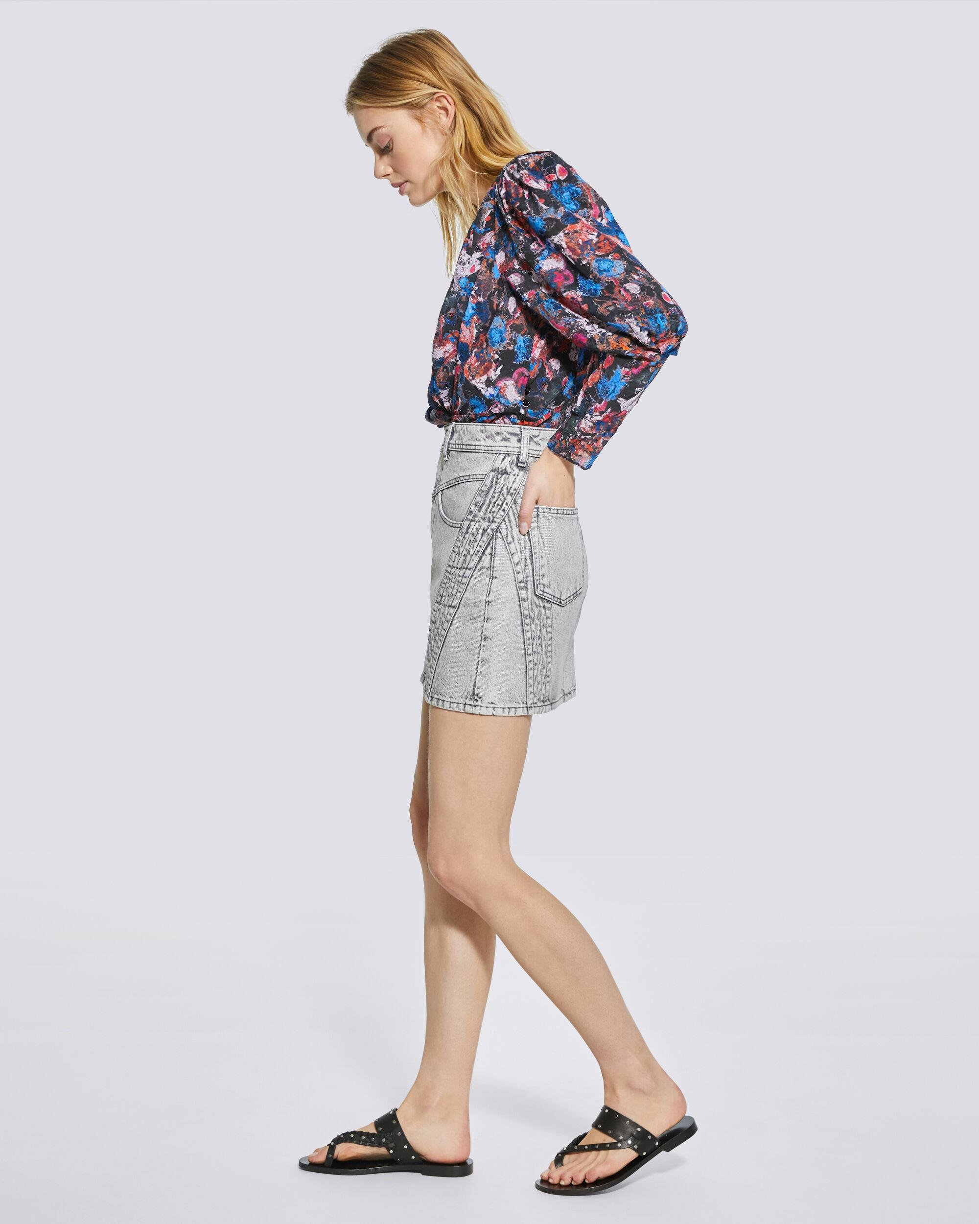 FORWIE FLORAL PRINTED DRAPED TOP 2