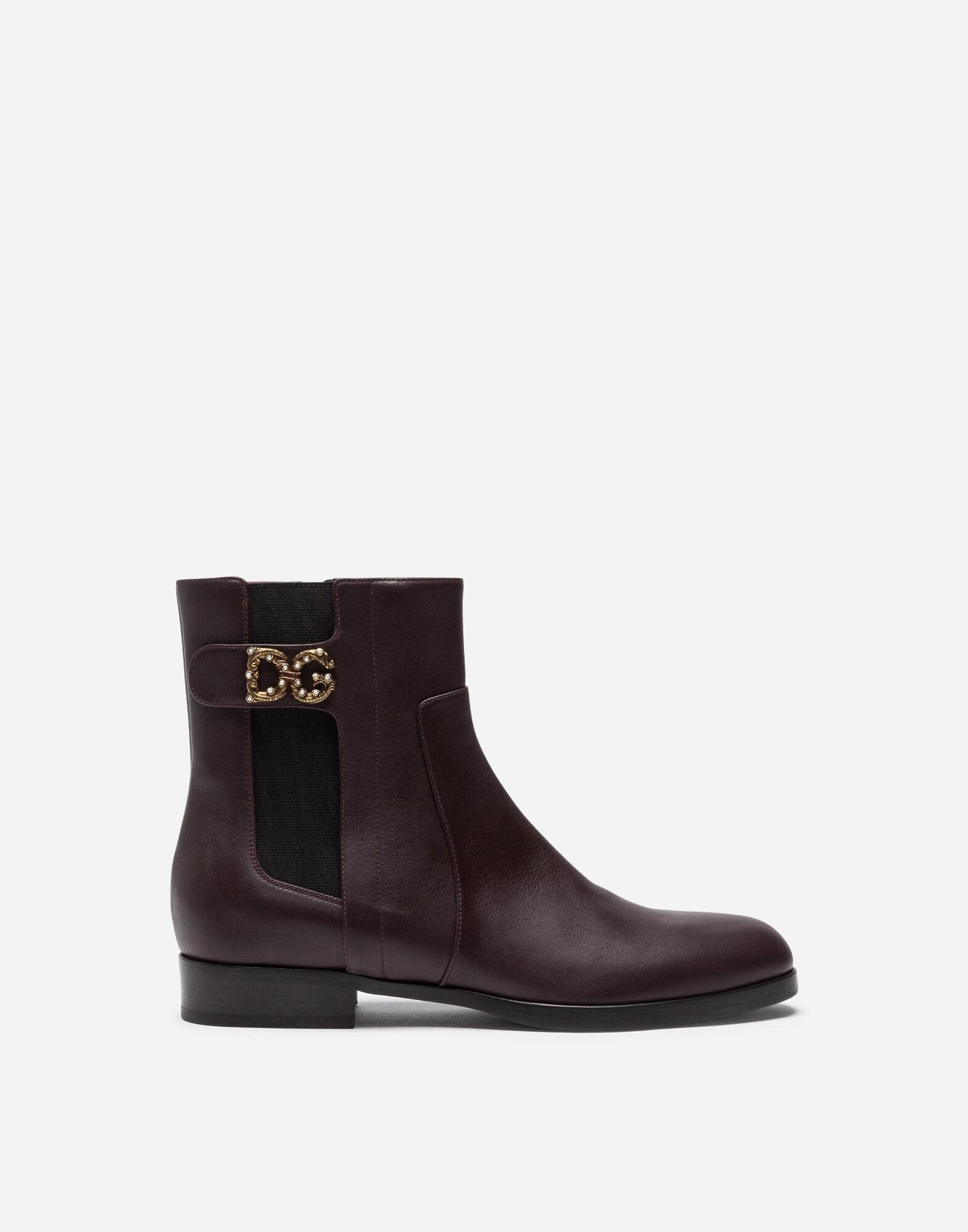 Calfskin nappa chelsea boots with DG logo
