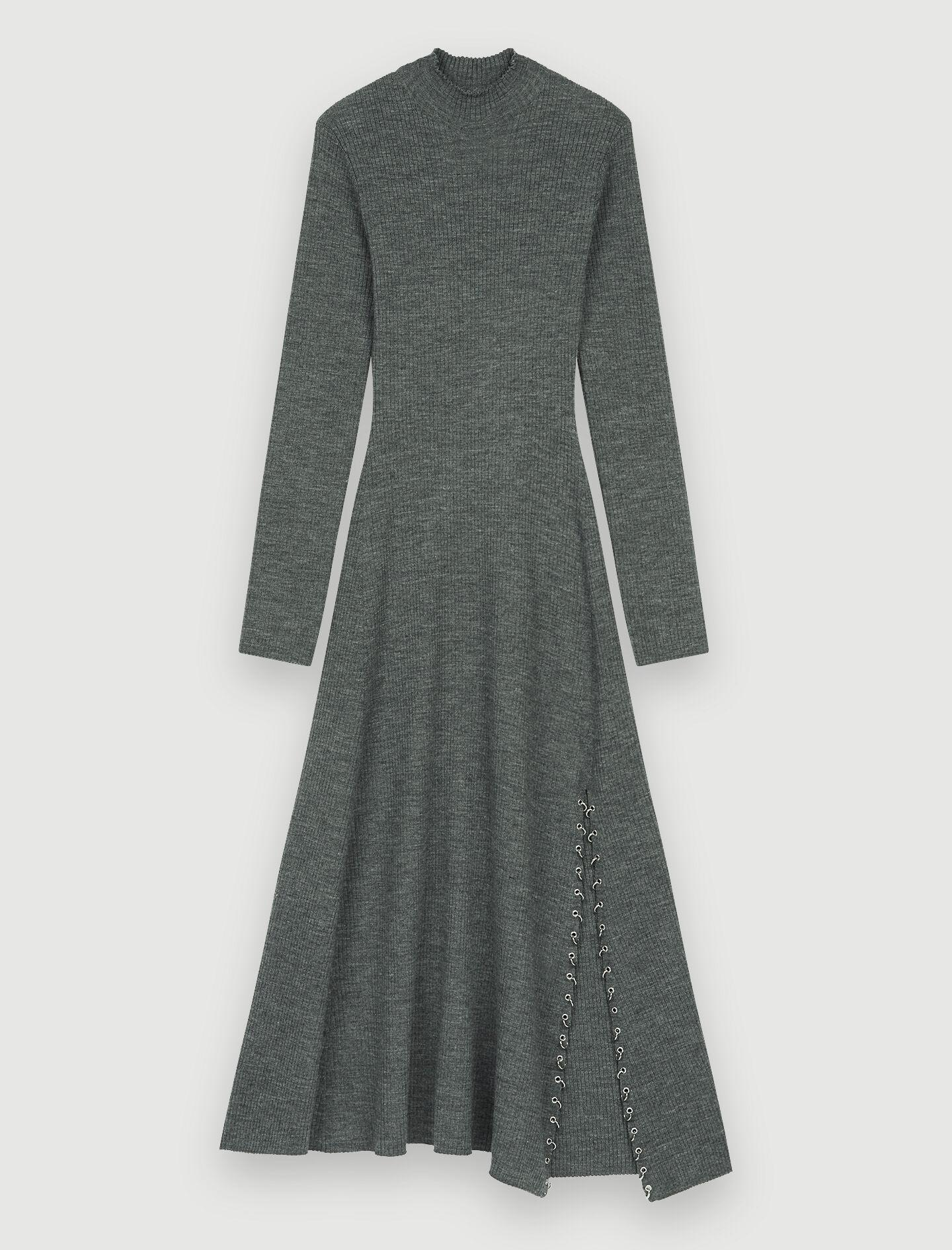 KNITTED SLIT DRESS WITH PIERCINGS 5