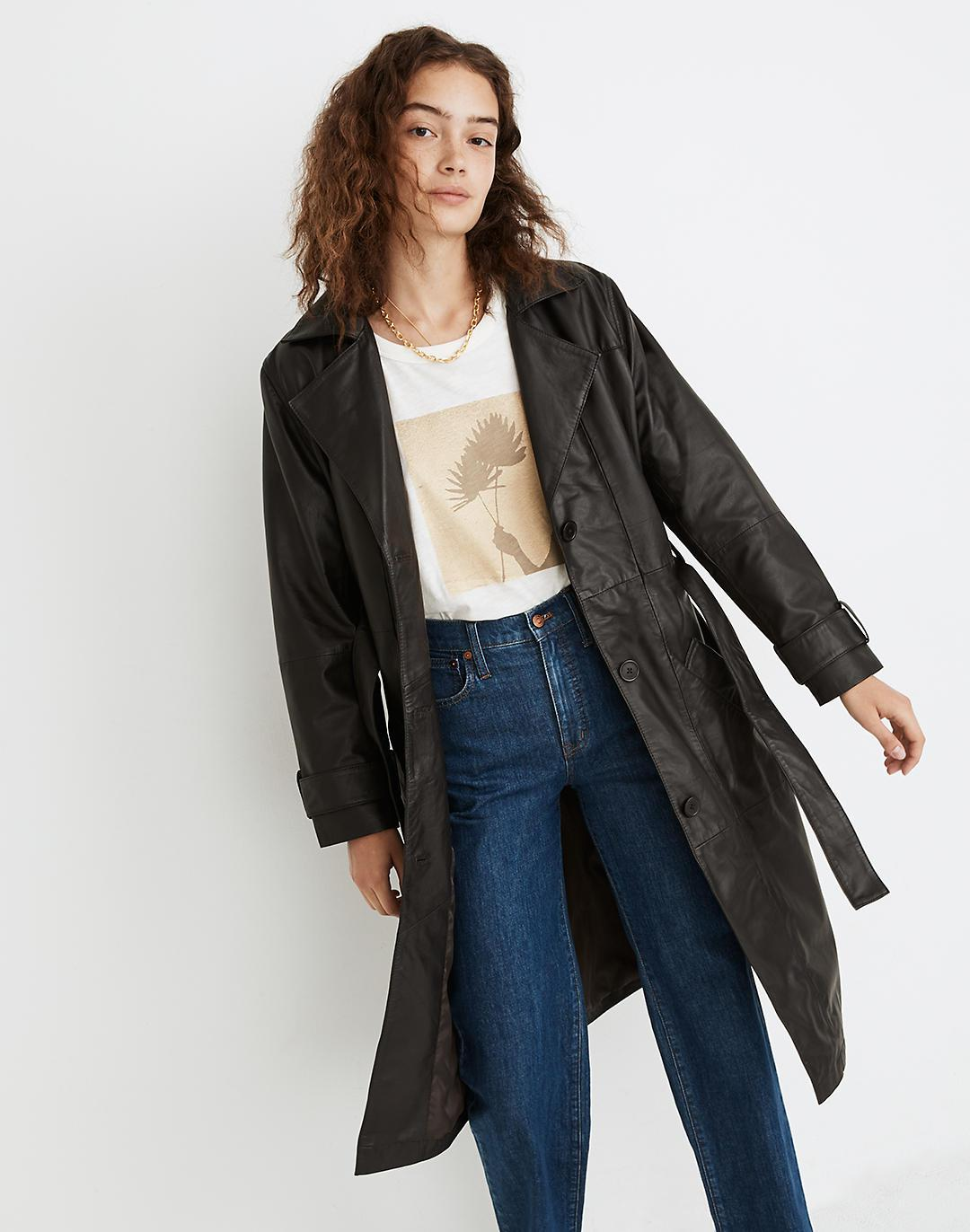 Deadwood Recycled Leather Terra Trench Coat