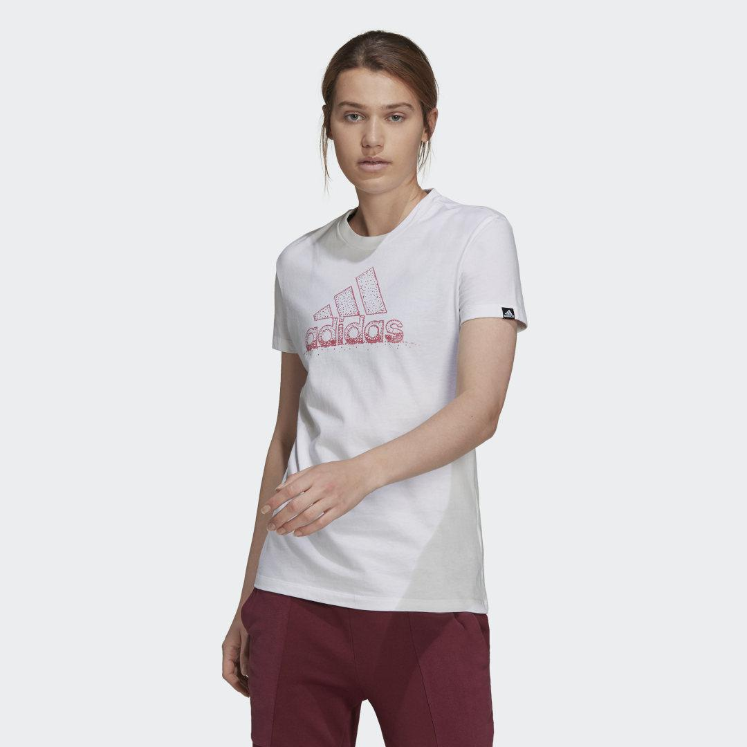 Snowflake Pearlescent Graphic Tee White