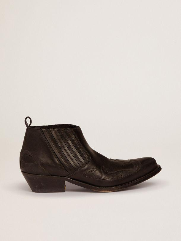 Santiago Low ankle boots in black leather