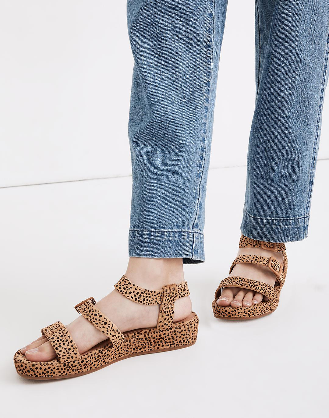 The Robin Platform Sandal in Spotted Calf Hair 3
