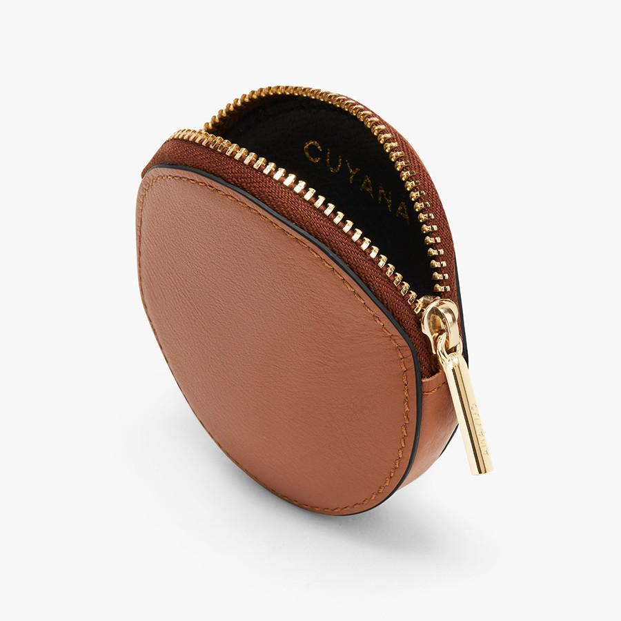 Women's Leather Coin Pouch in Caramel | Smooth Leather by Cuyana 1
