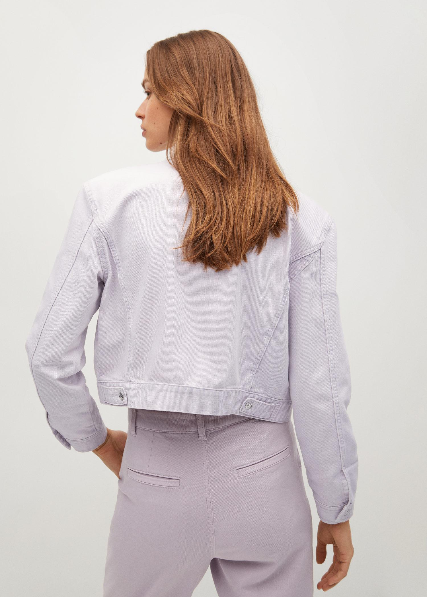 Cropped jacket with shoulder pads 2