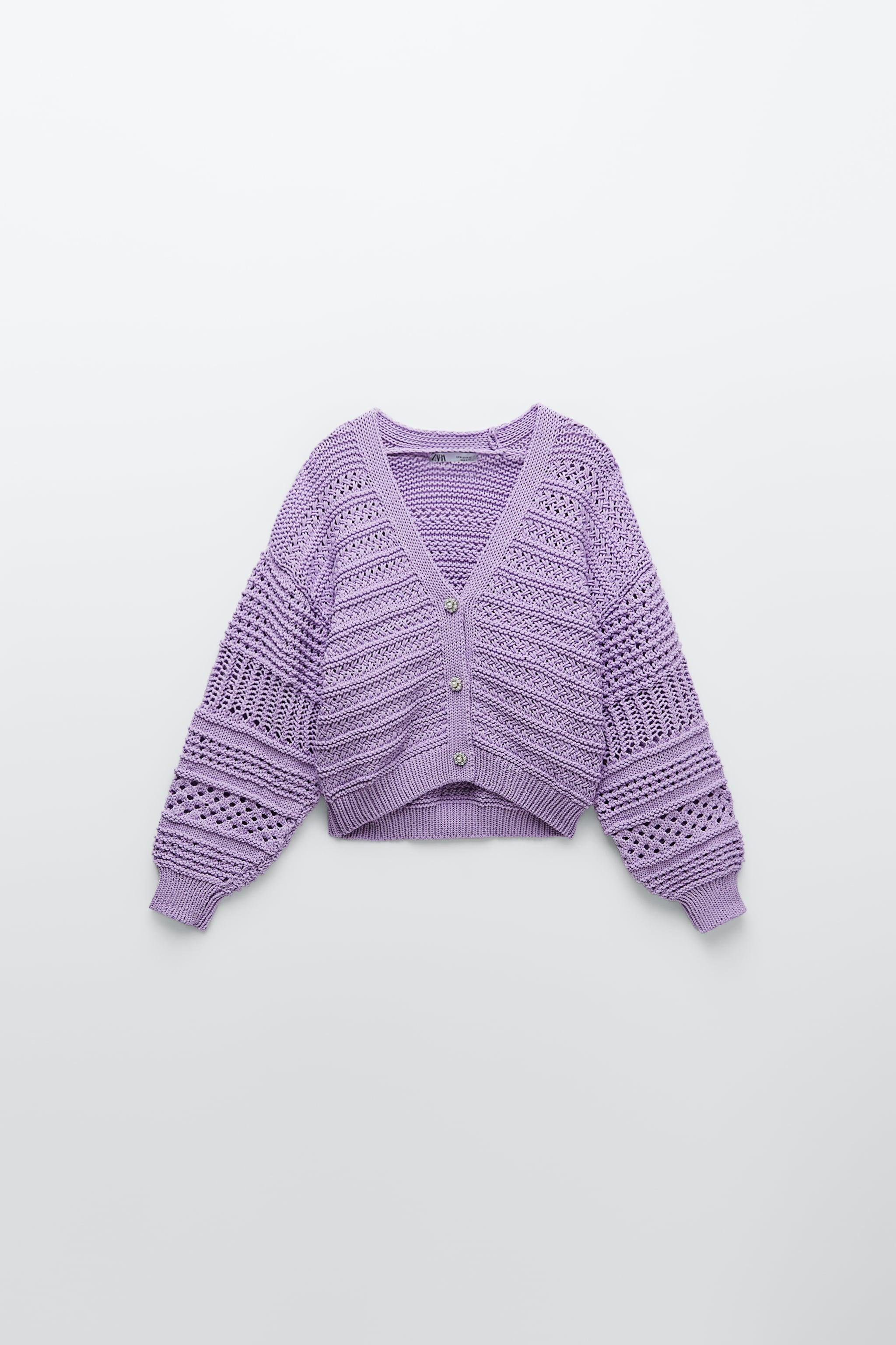 KNIT CARDIGAN WITH PEARL BUTTON 4