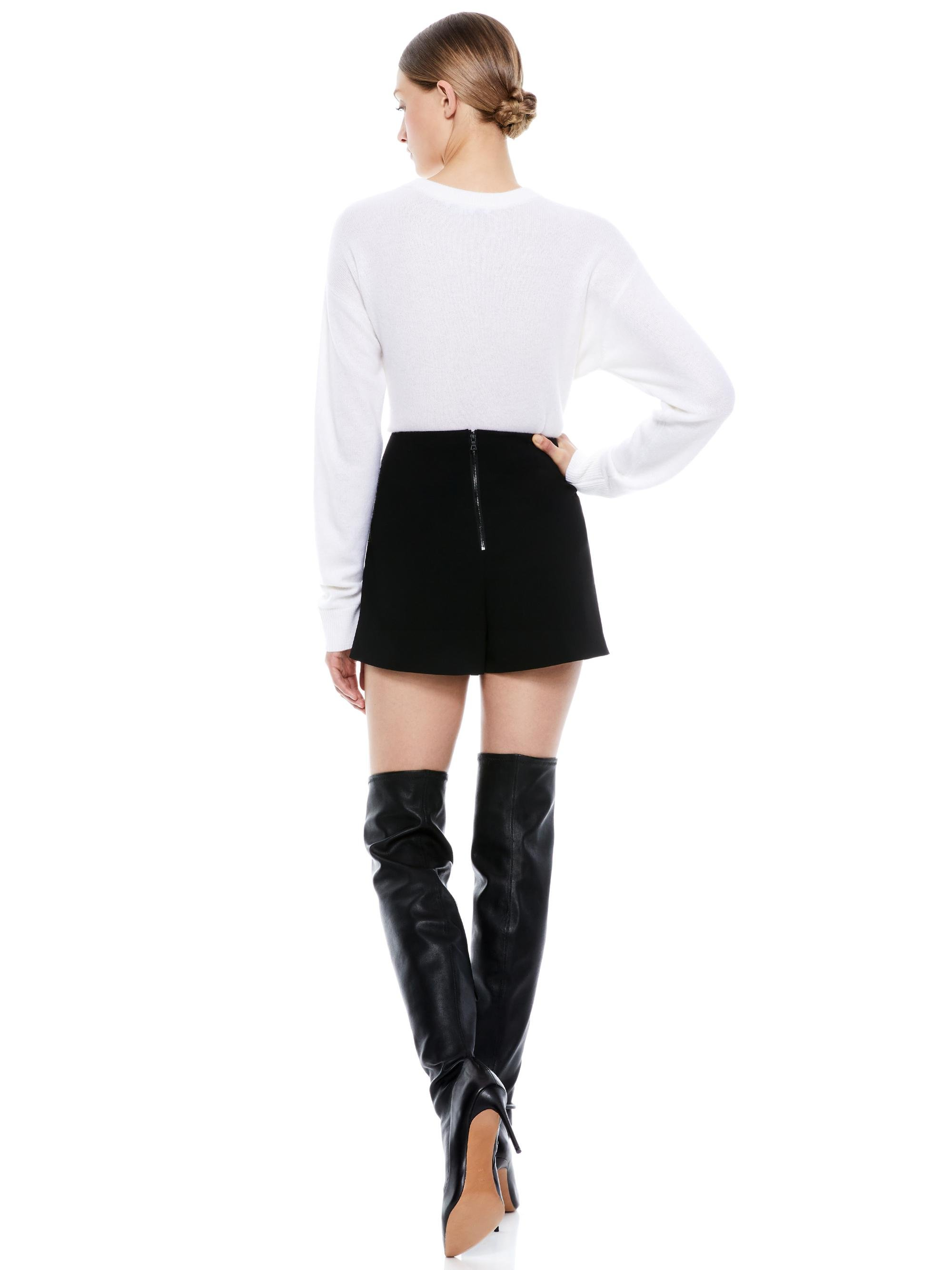 DARMA VEGAN LEATHER SKORT