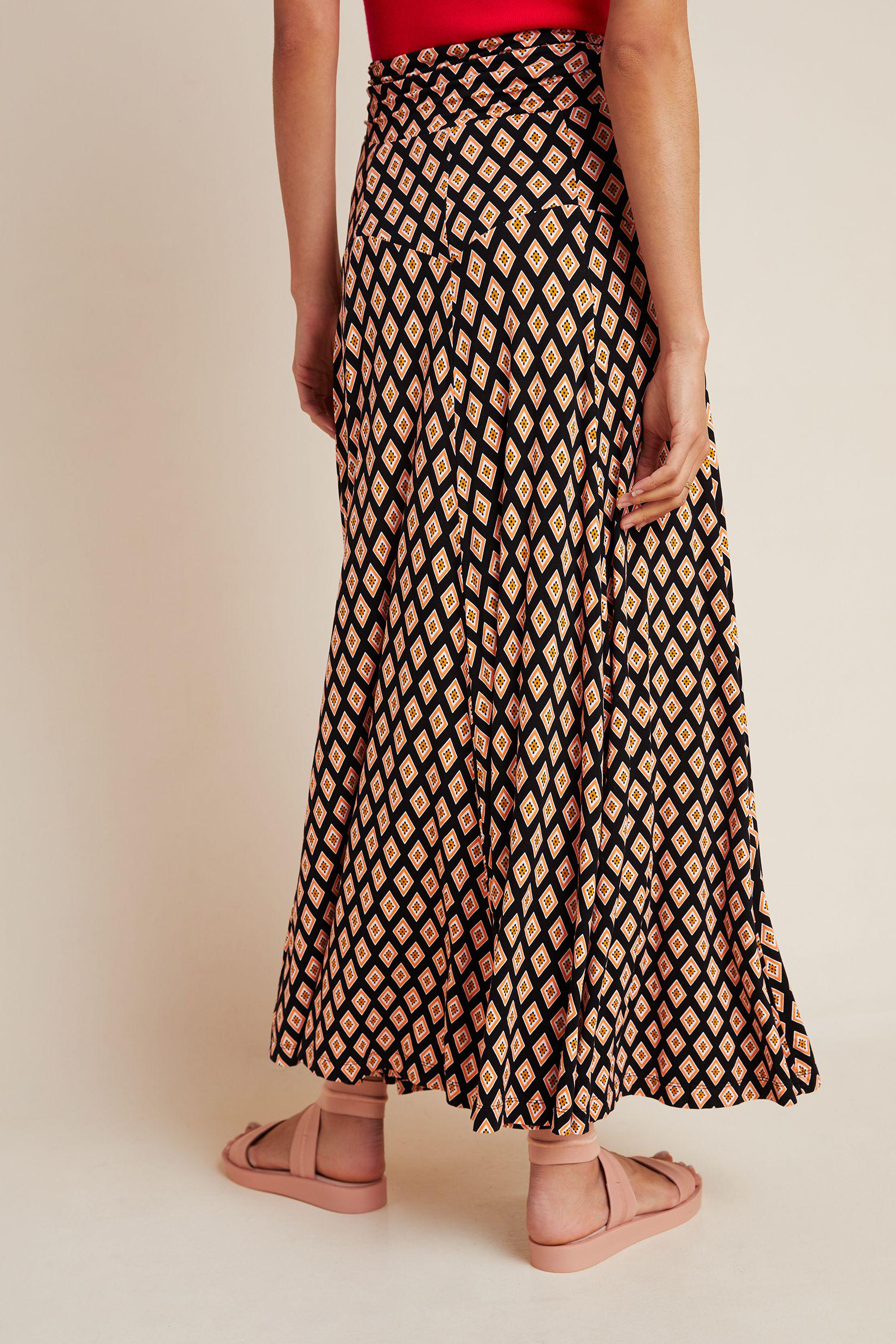 Maeve Abstract Maxi Skirt 2