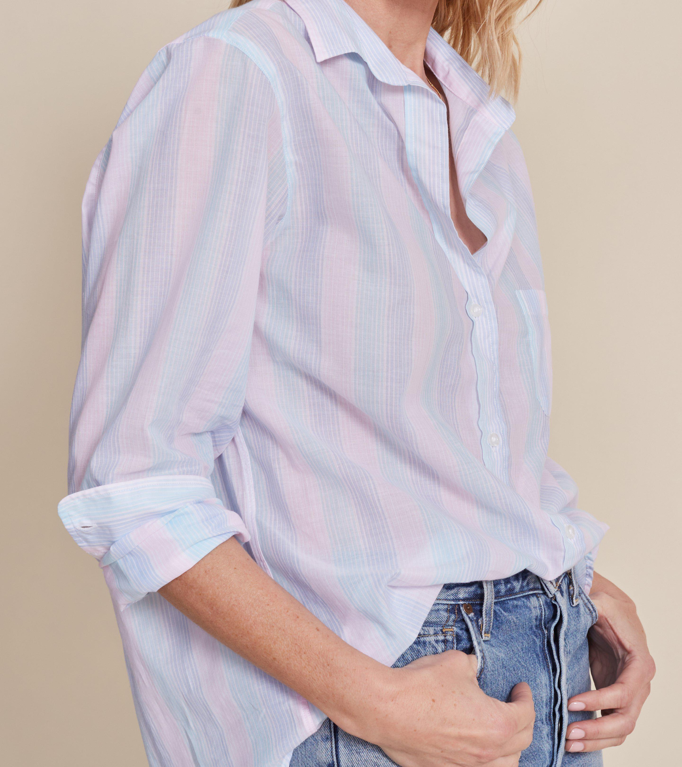 The Hero Blue and Pink Multi Stripe, Tissue Cotton Final Sale 2