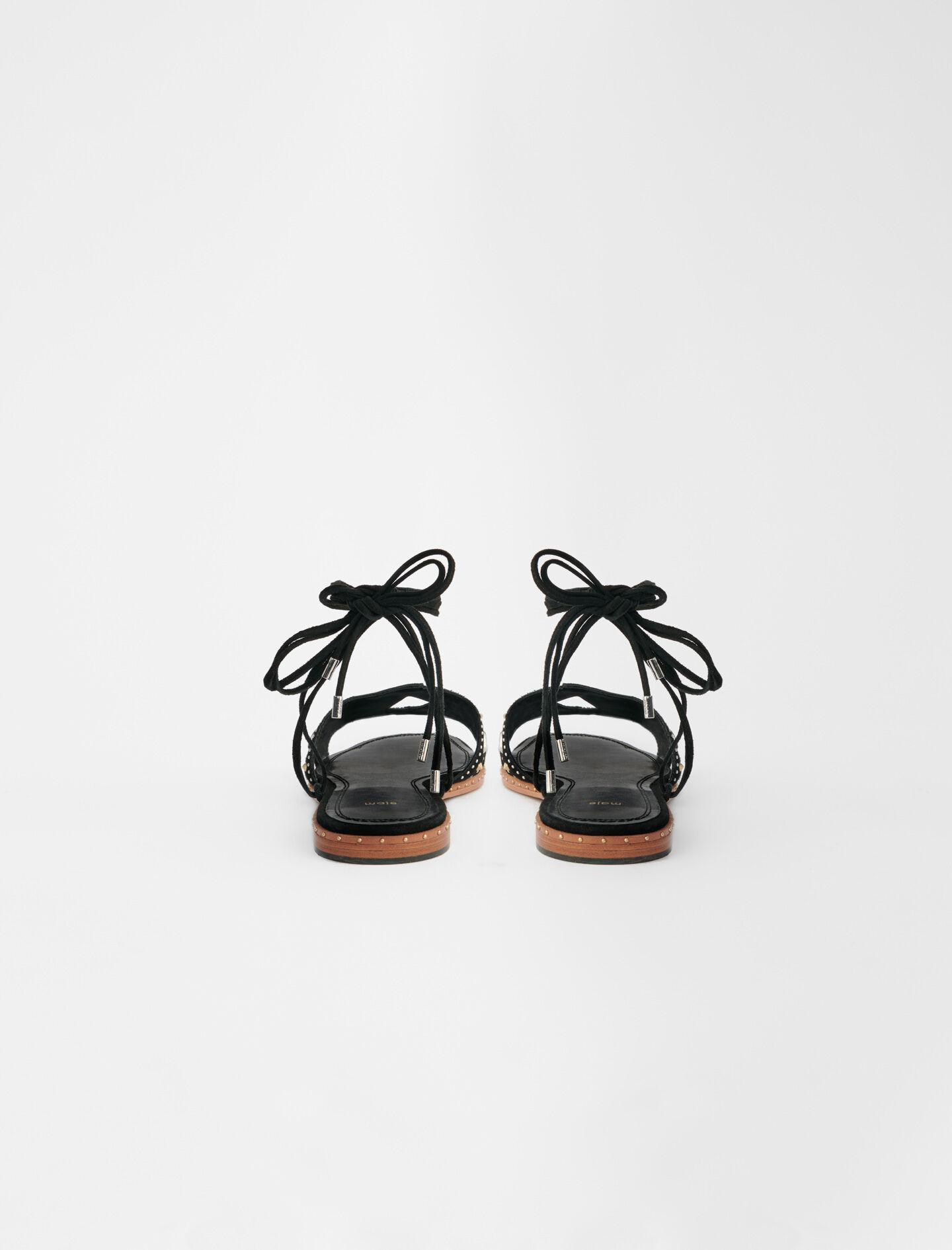FLAT TIE SANDALS WITH STUDS 4