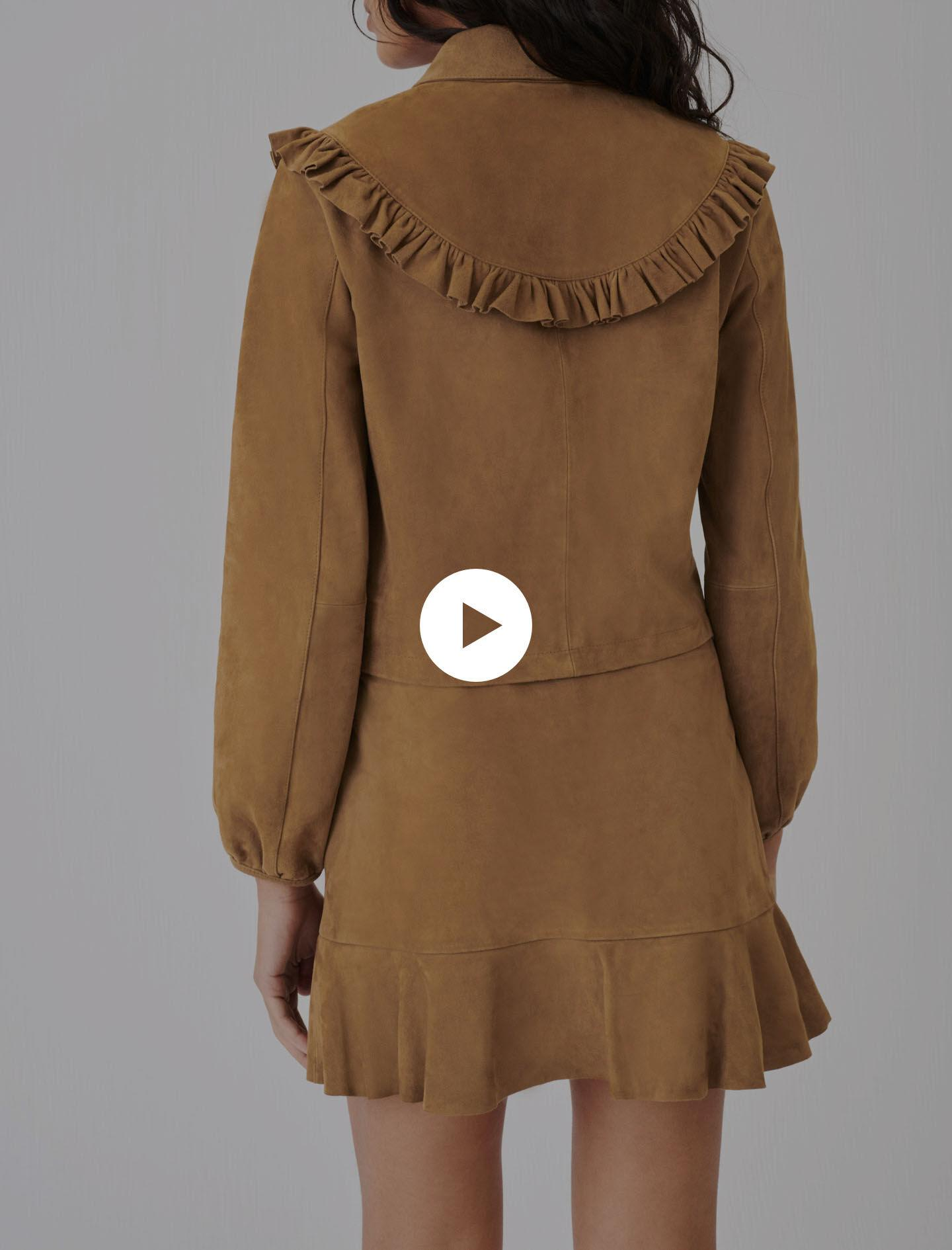 SUEDE JACKET WITH RUFFLES 3