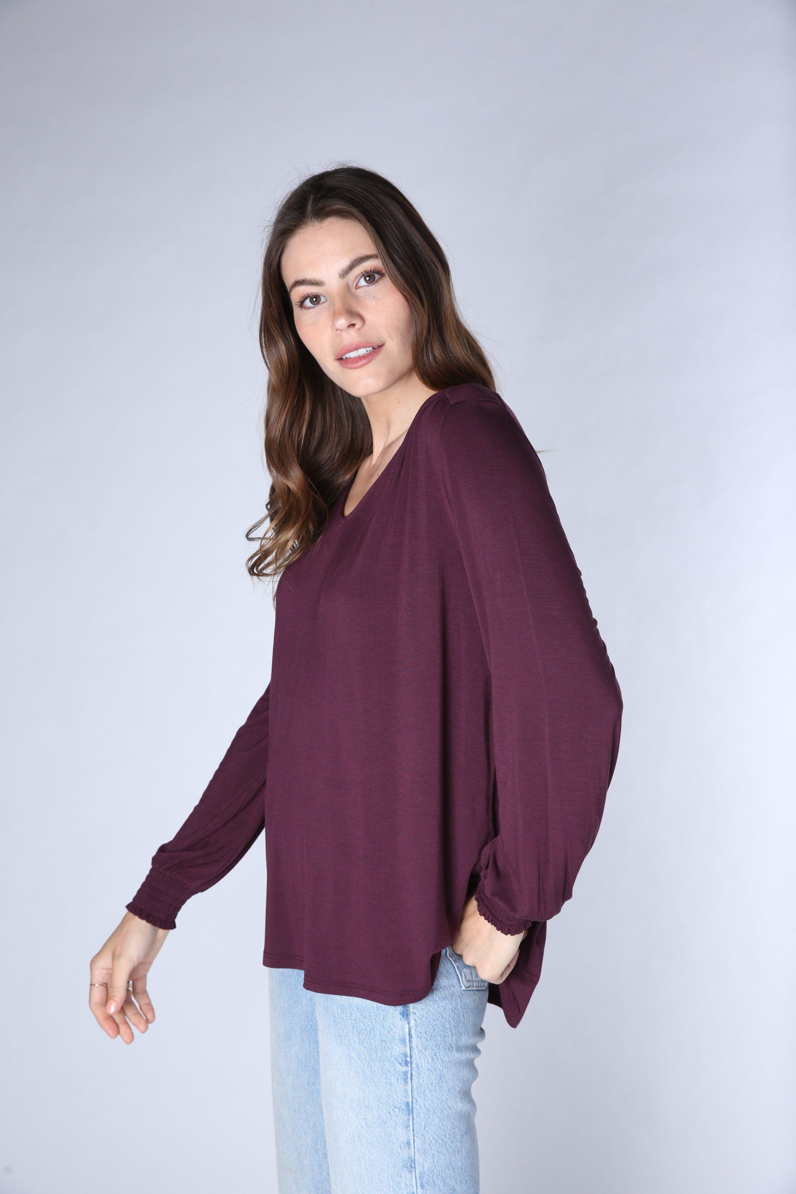 Ruched Gathered Long Sleeve Tee 5