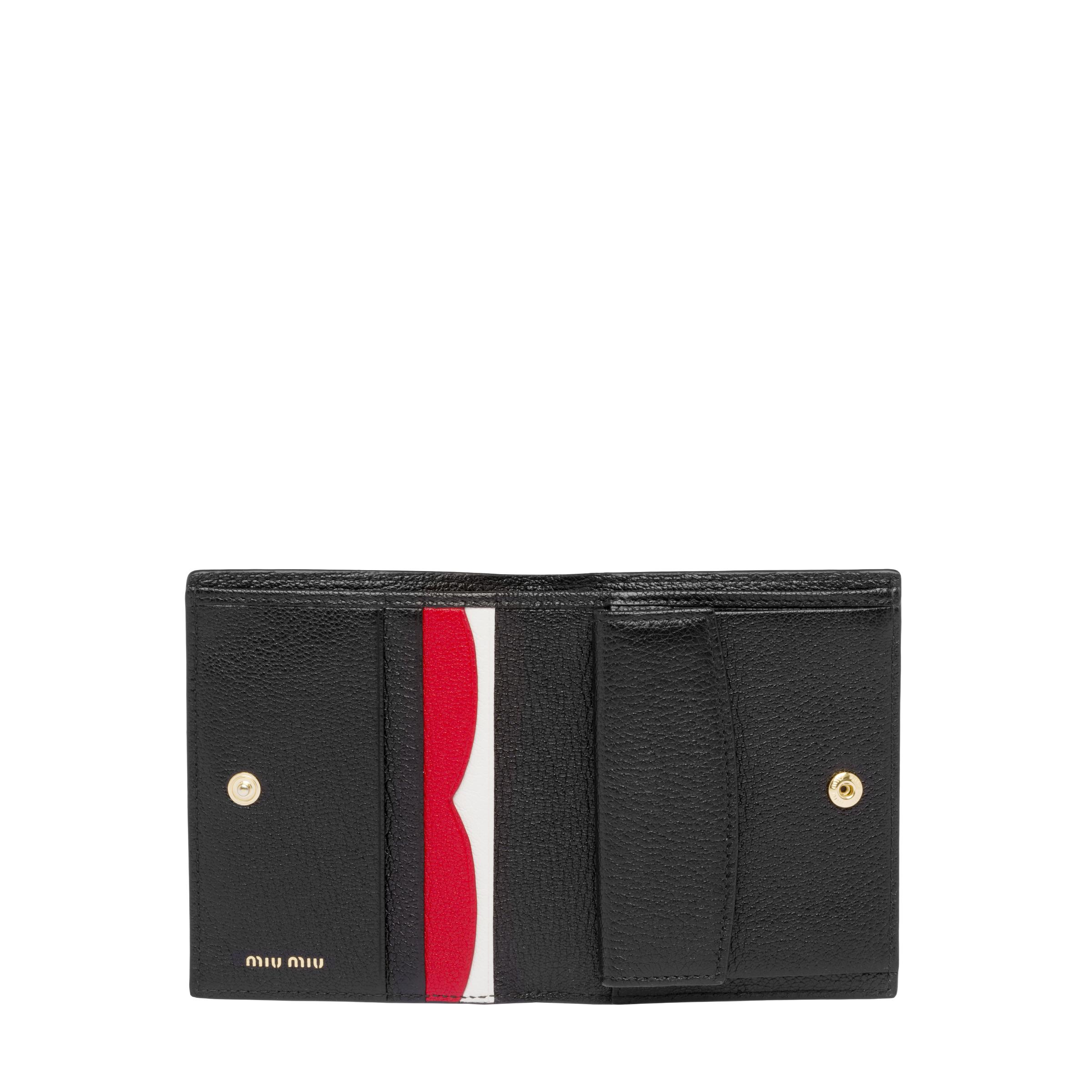 Madras Colour Leather Wallet Women Black/fiery Red 4