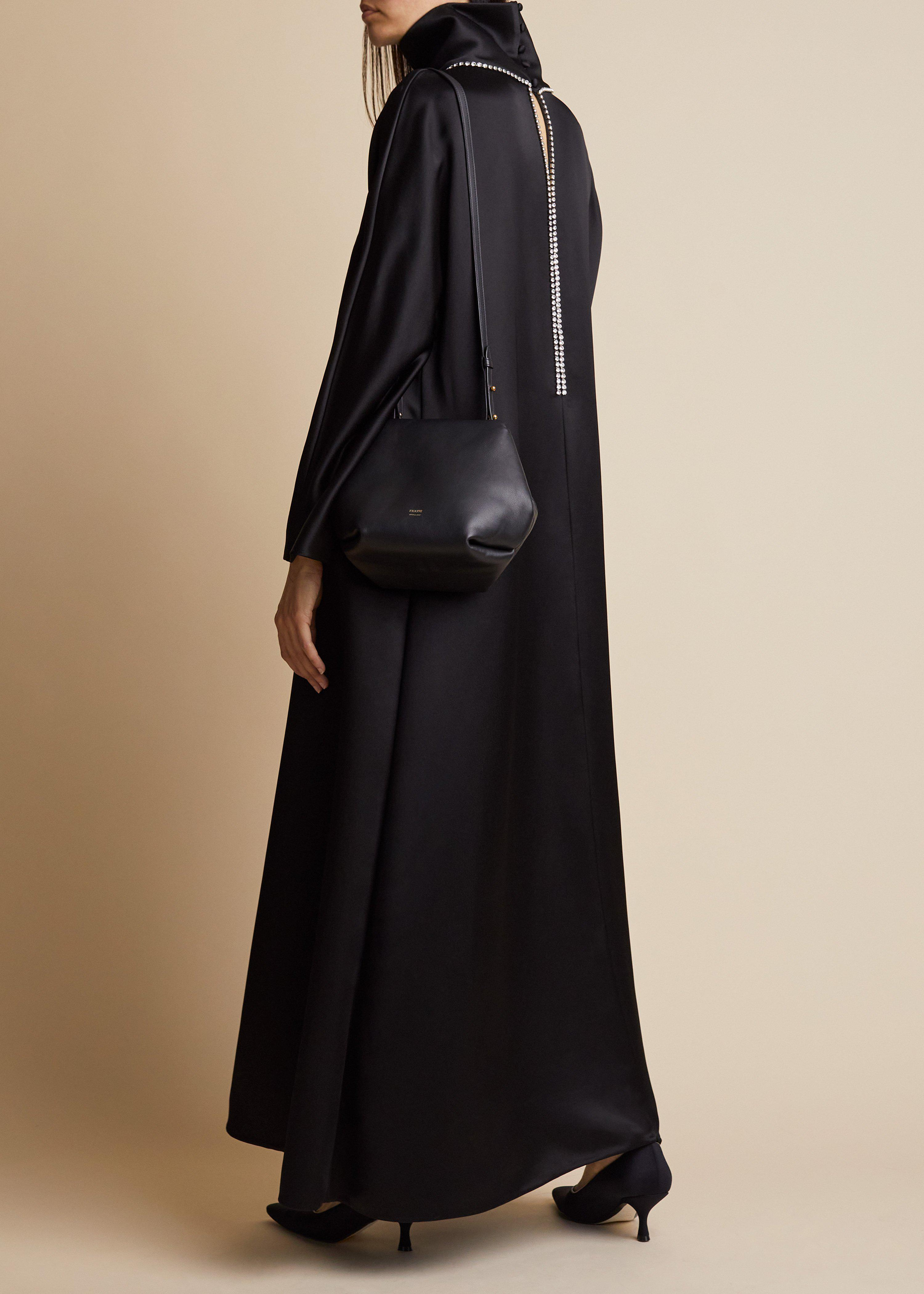 The Marin Dress in Black with Crystals