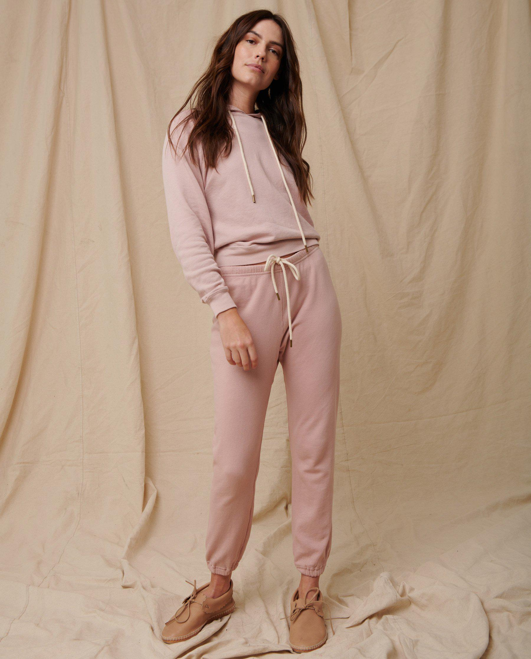 The Stadium Sweatpant. Solid -- Pink Frost
