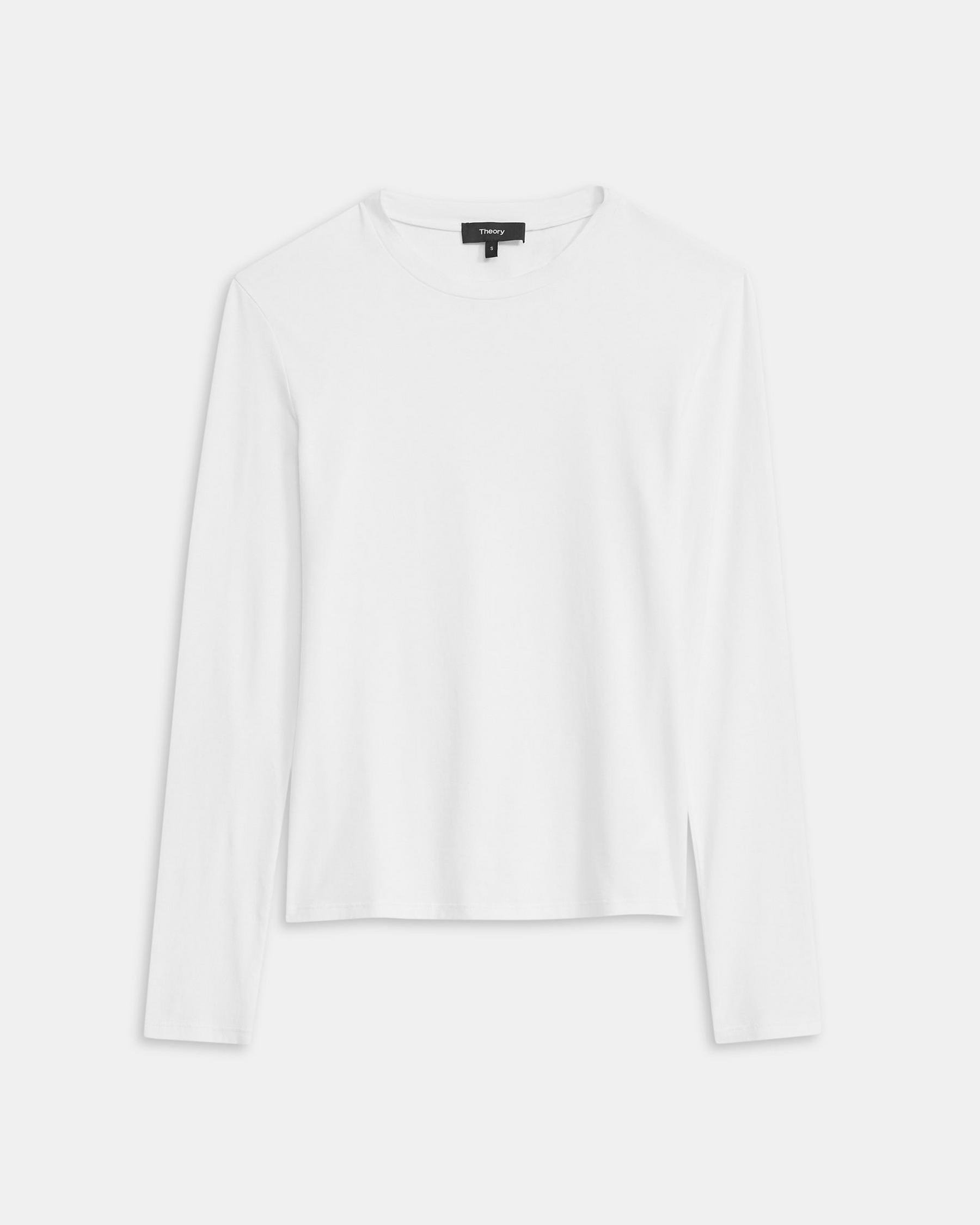 Long-Sleeve Tiny Tee in Cotton 4