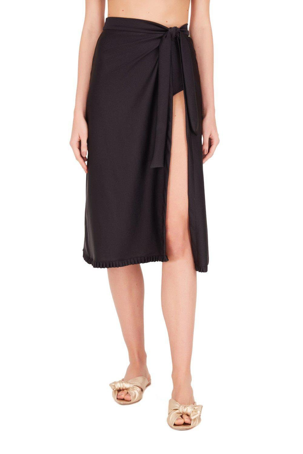 Fruits Exotiques Solid Pareo Skirt with Frills 1