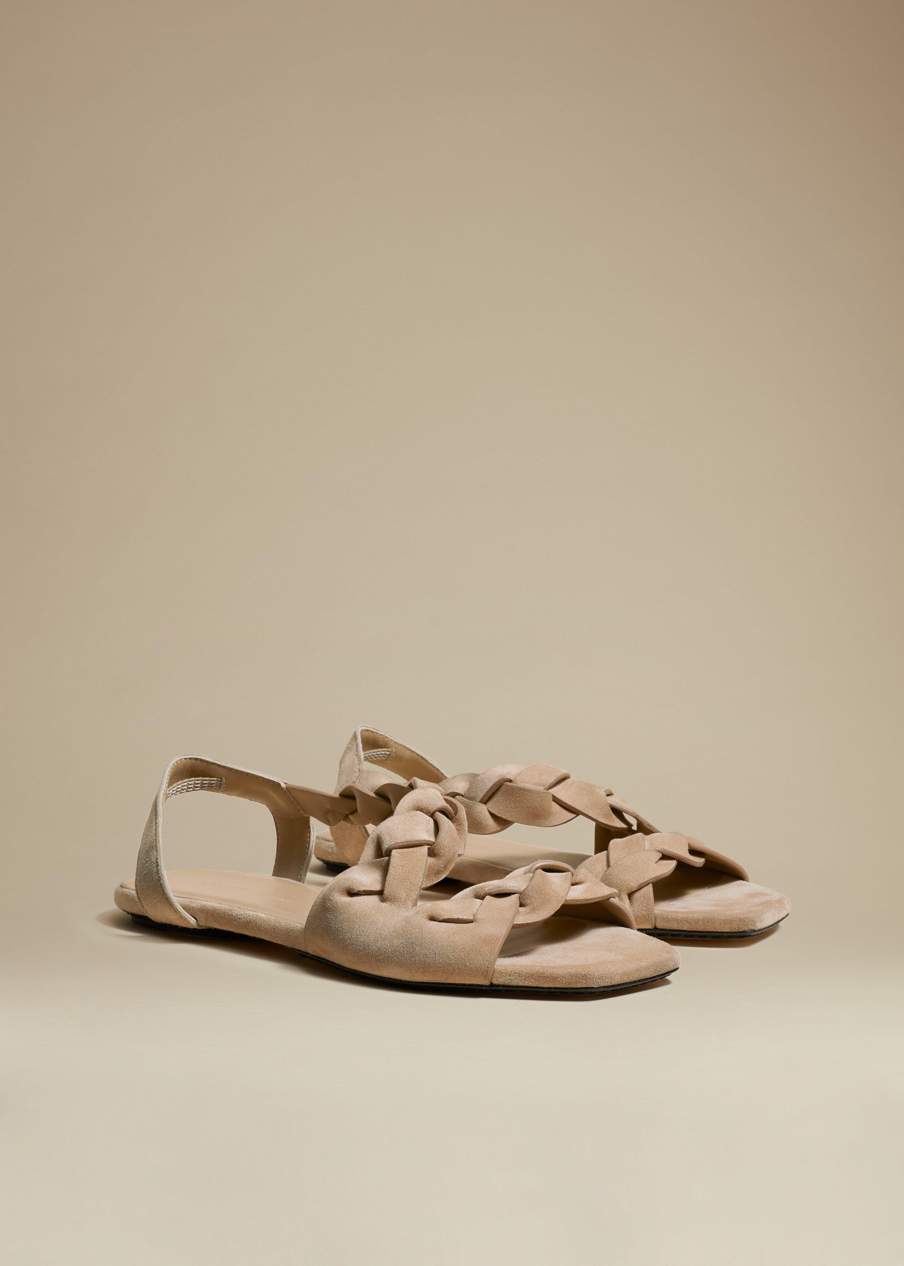 The Torrance Sandal in Biscuit Suede 1
