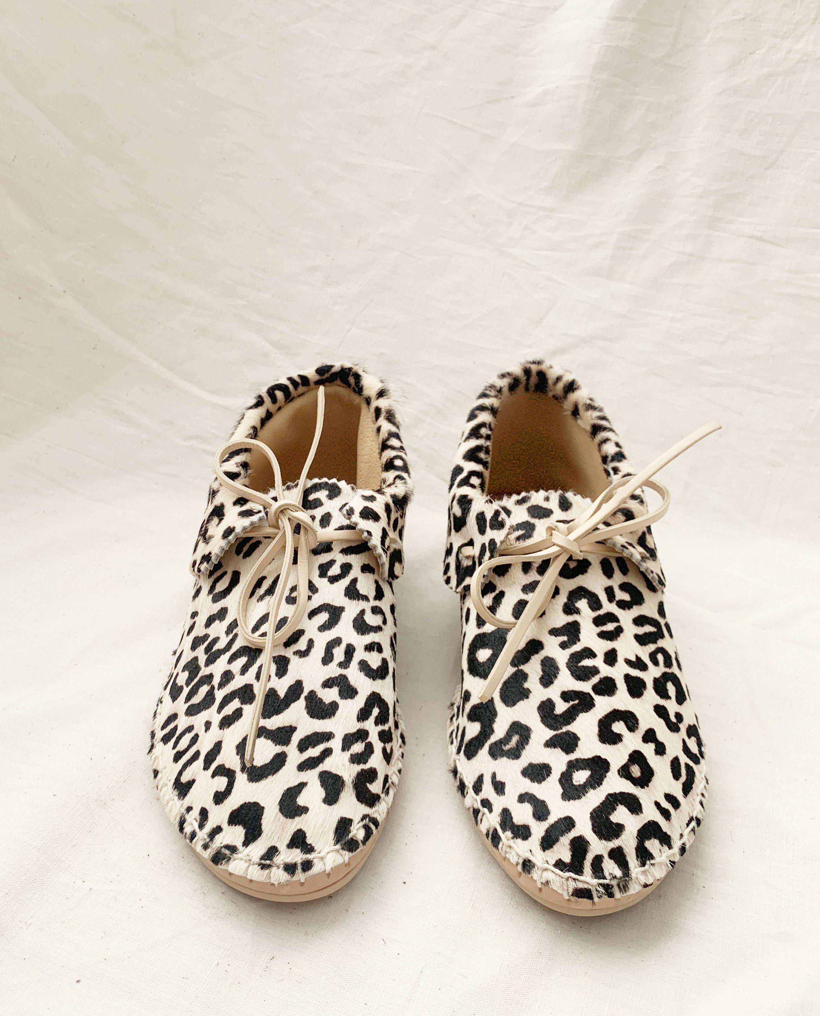 The Canyon Moccasin. -- Cream Leopard 1
