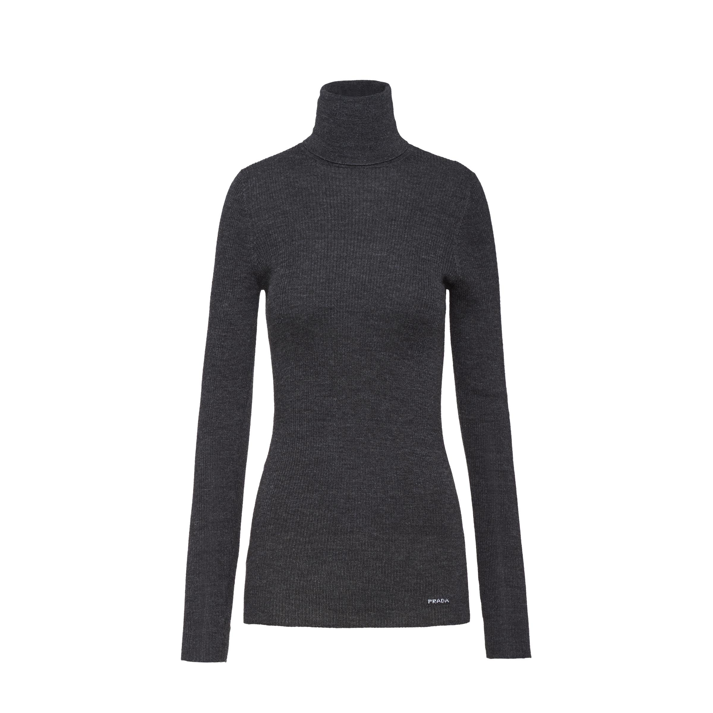 Wool And Silk Sweater Women Anthracite Gray