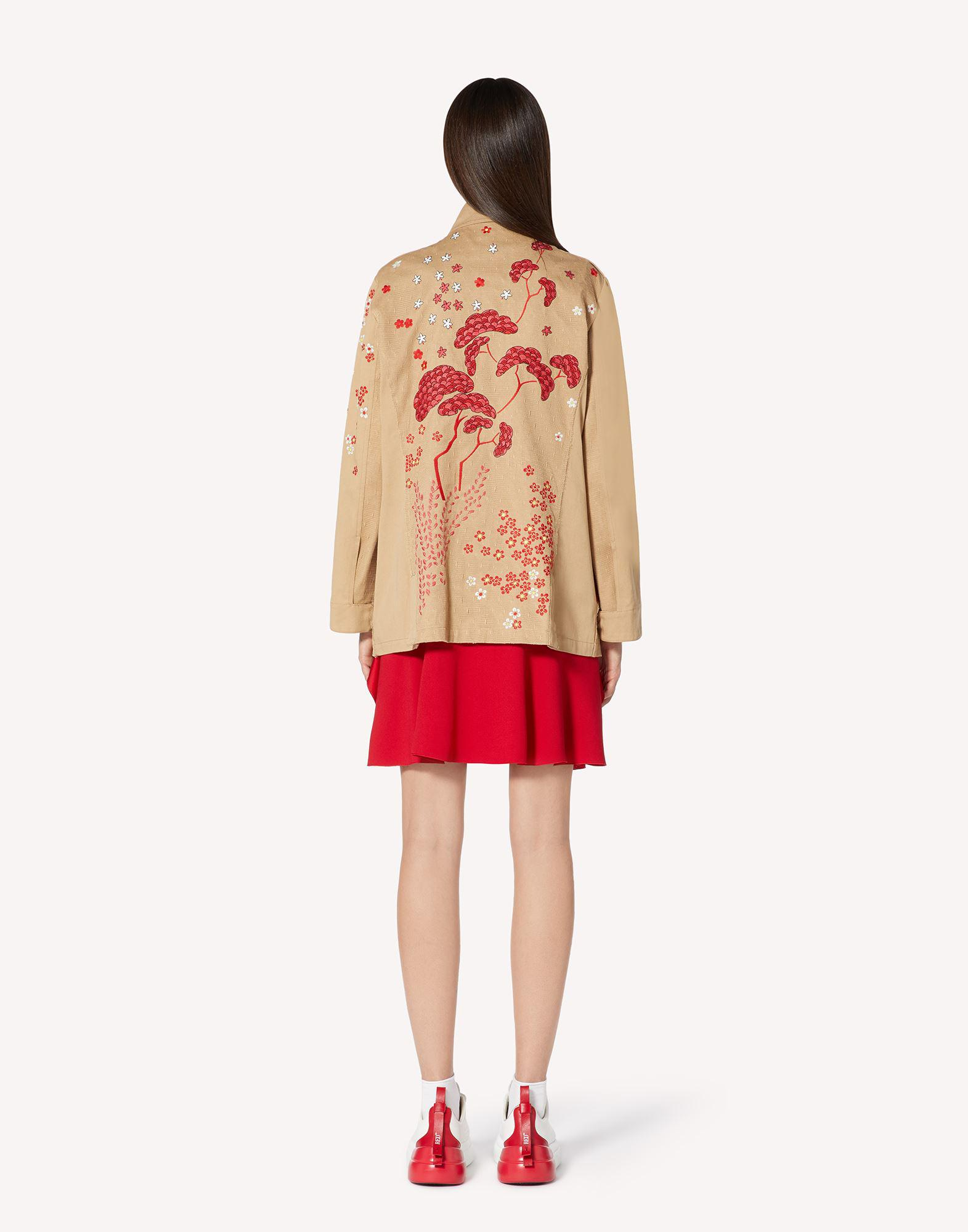 ASIAN TOILE DE JOUY EMBROIDERED PEA COAT 1