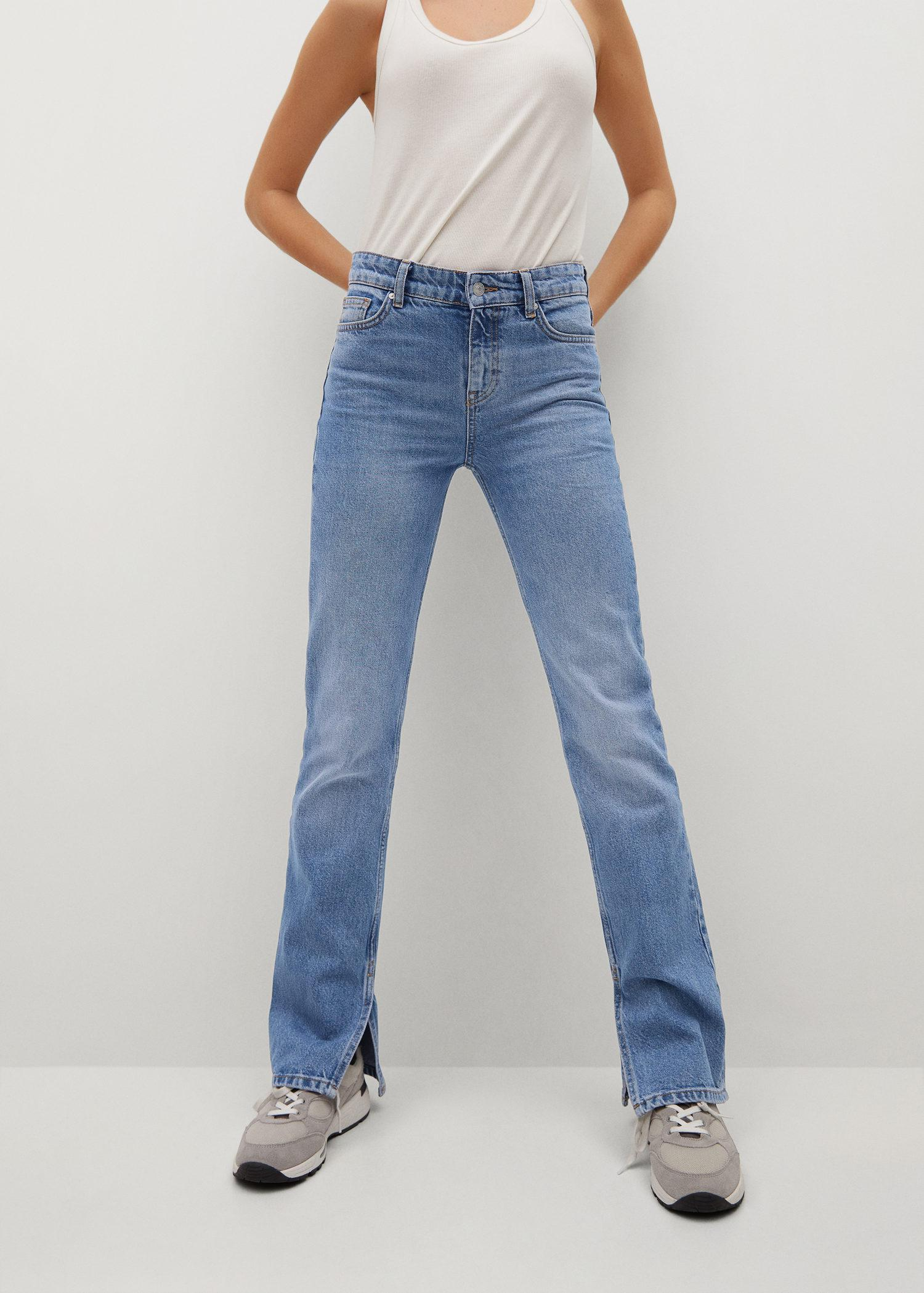 Straight opening jeans