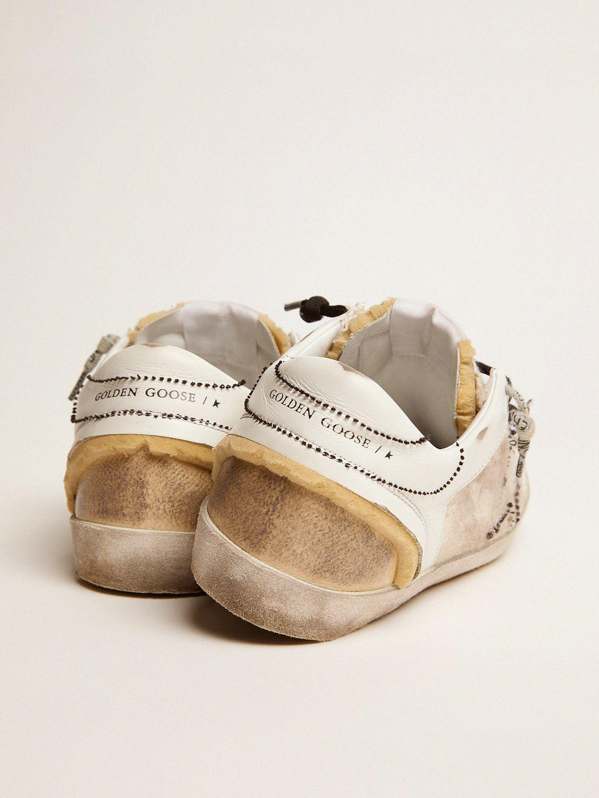 White and beige inside out Super-Star sneakers 3