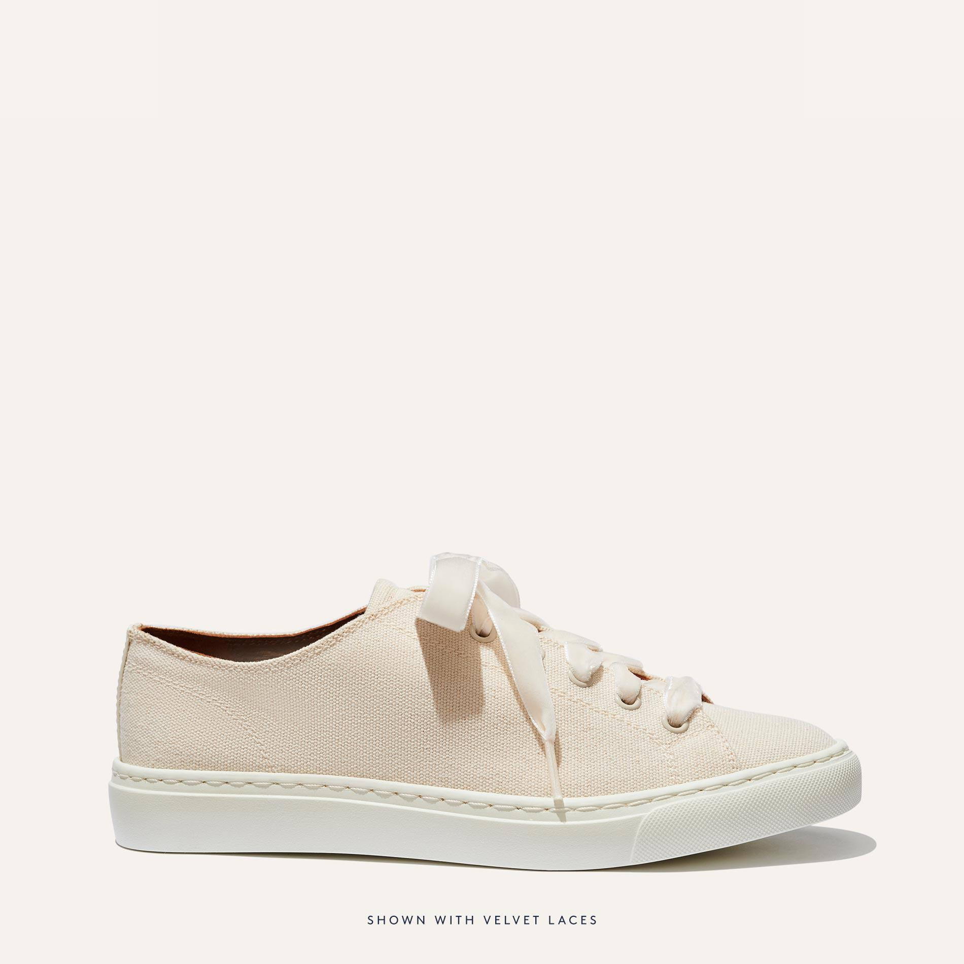 The Summer Sneaker - Ivory Canvas