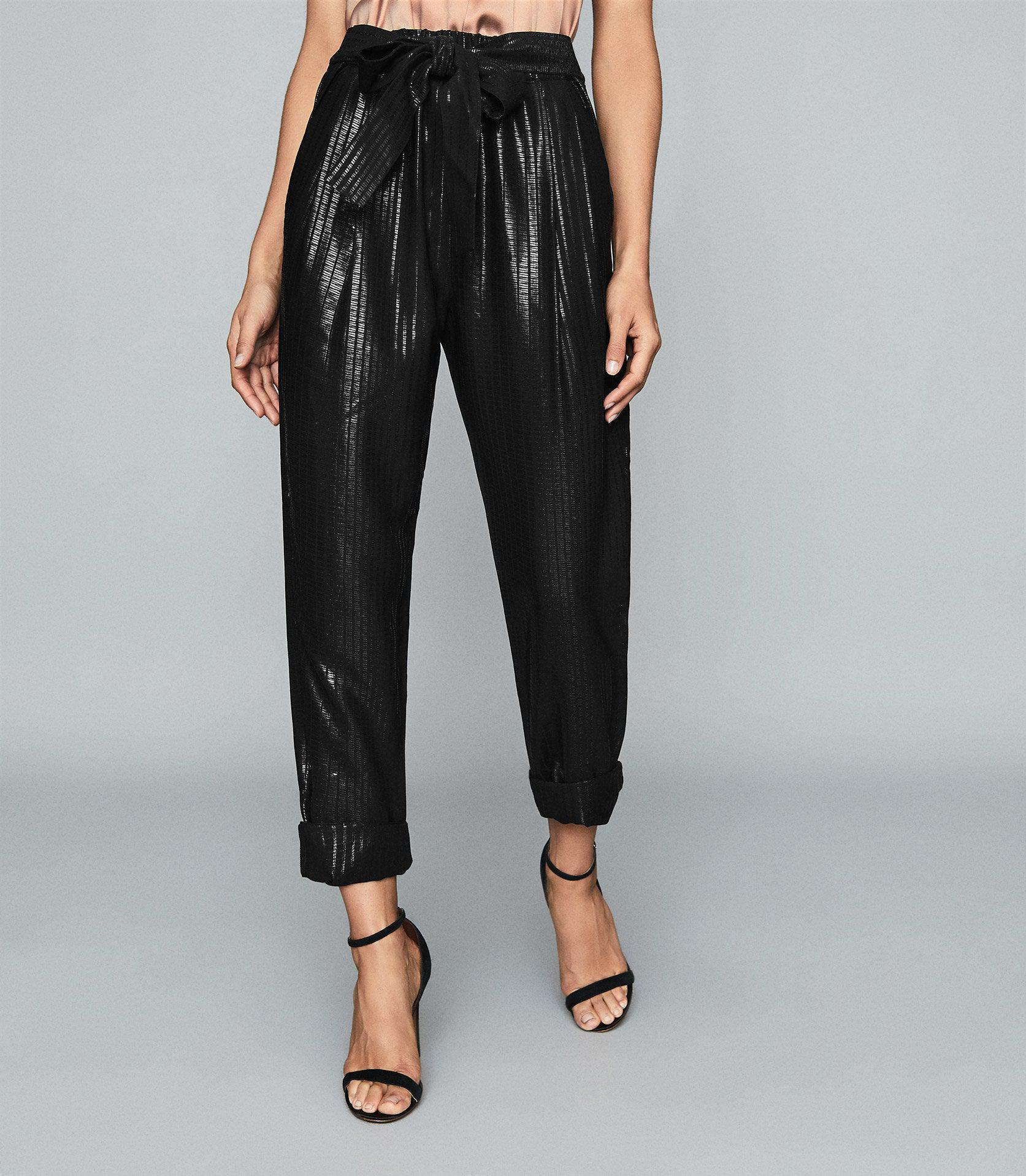 PENNIE - TAPERED SHIMMER TROUSERS 1
