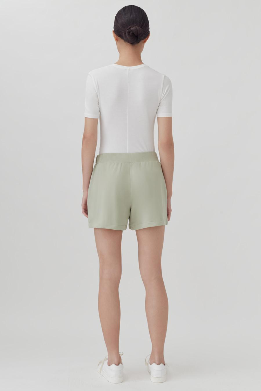 Women's French Terry Shorts in Sage | Size: 2