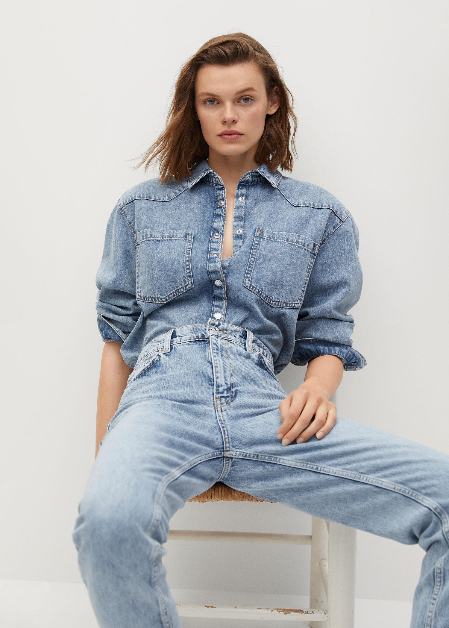 100% cotton mom-fit jeans 4