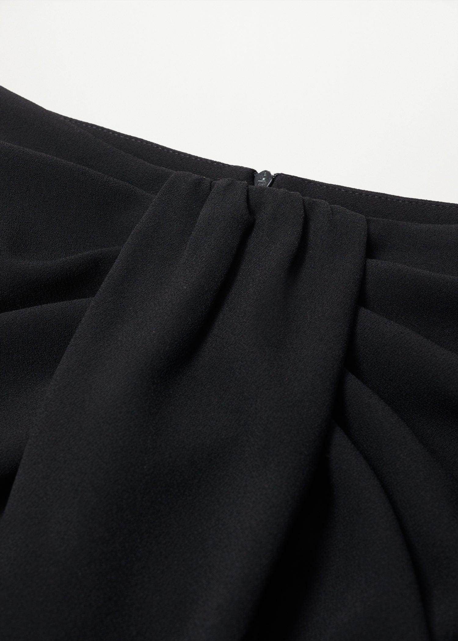 Recycled polyester gathered skirt 6