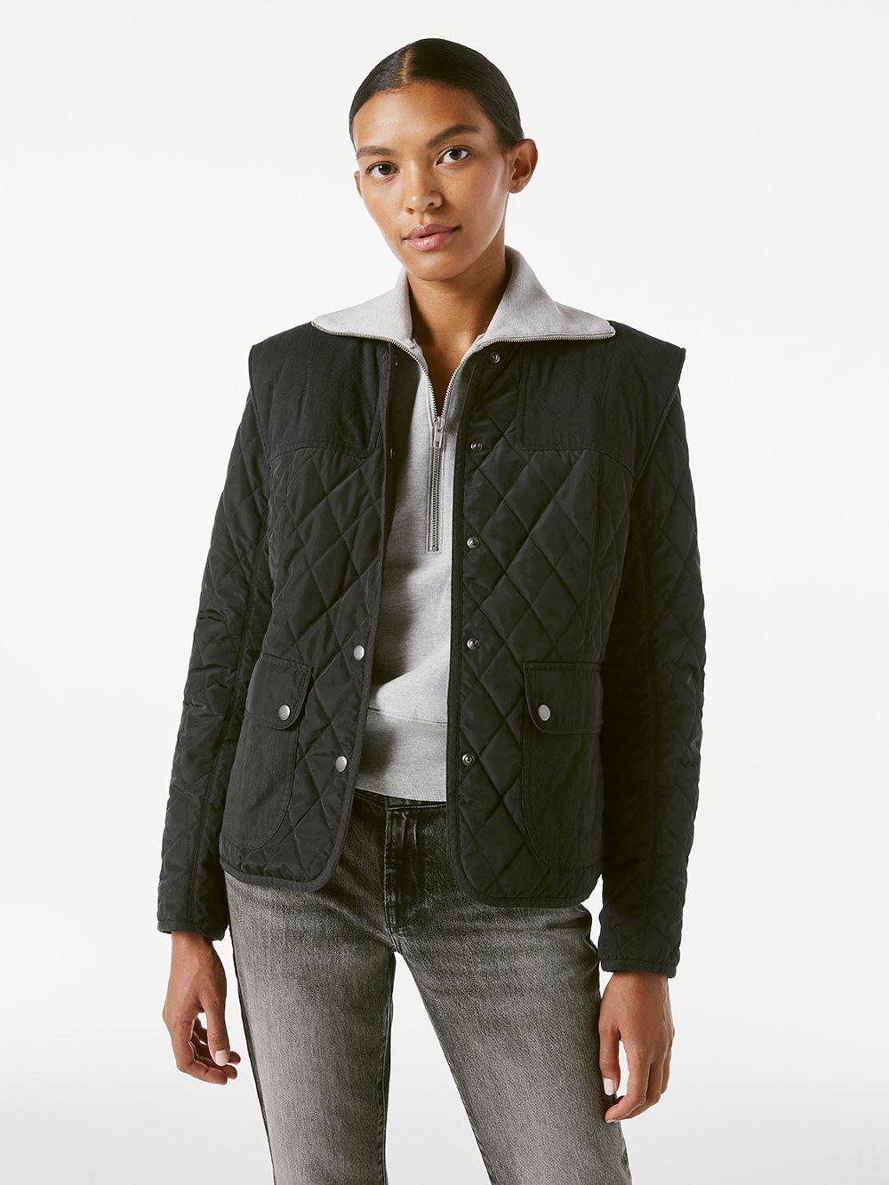 Quilted Town Jacket -- Noir