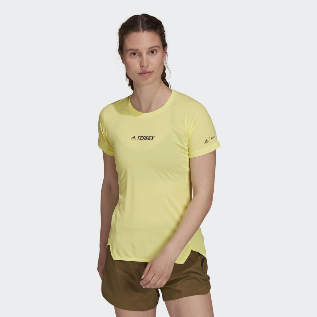 Terrex Parley Agravic Trail Running All-Around Tee Pulse Yellow