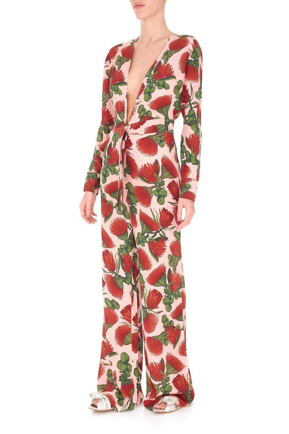Fiore Jumpsuit with Knot Detail