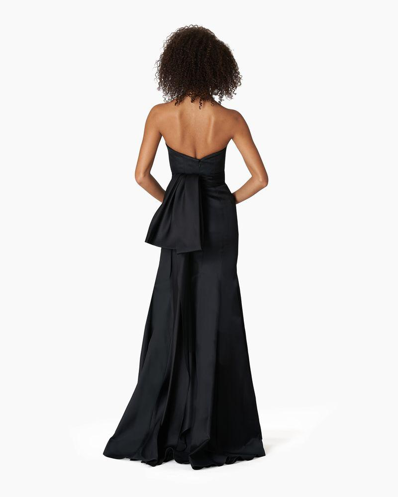 Strapless Trumpet Gown with Waist Knot Detail 1