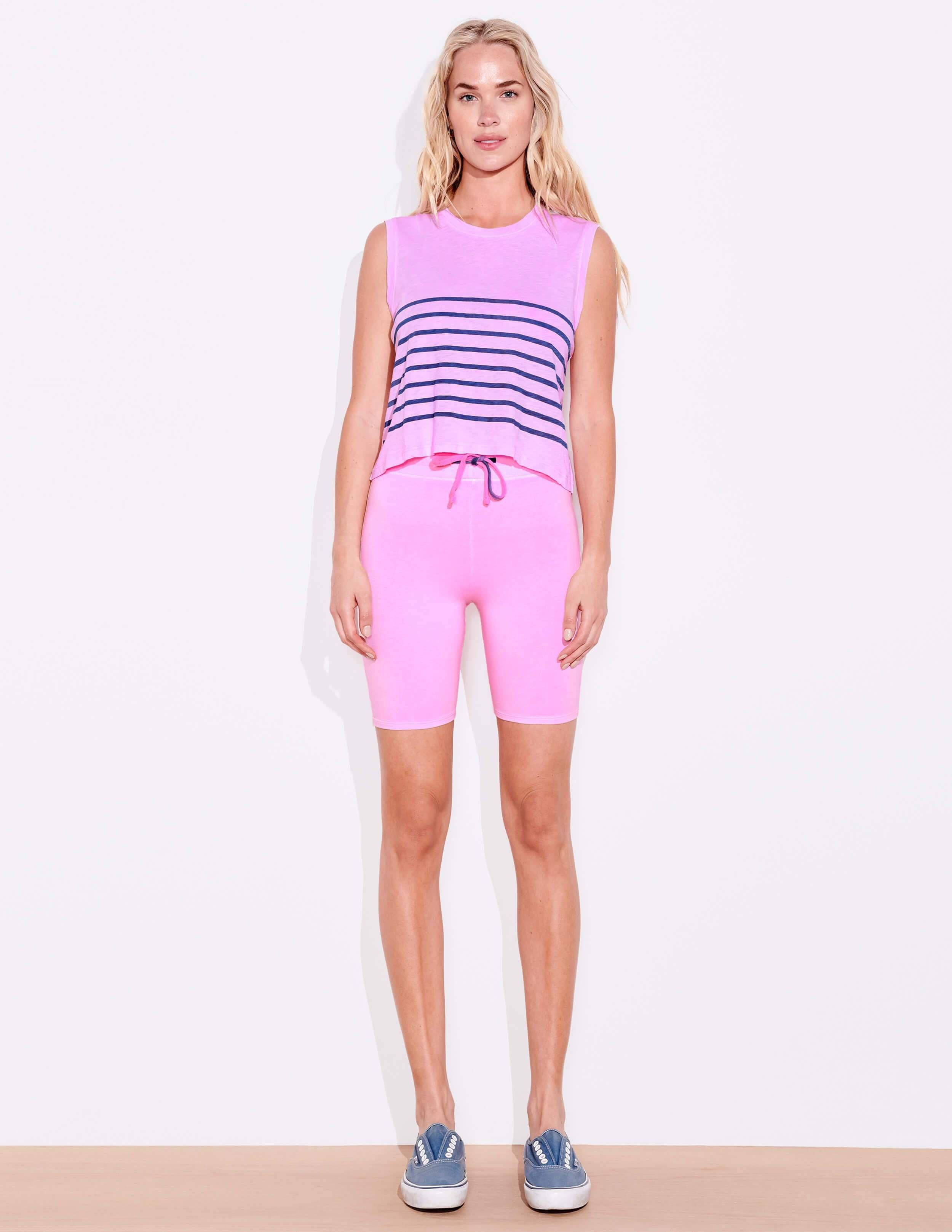 Blue Stripes Muscle Tee 1