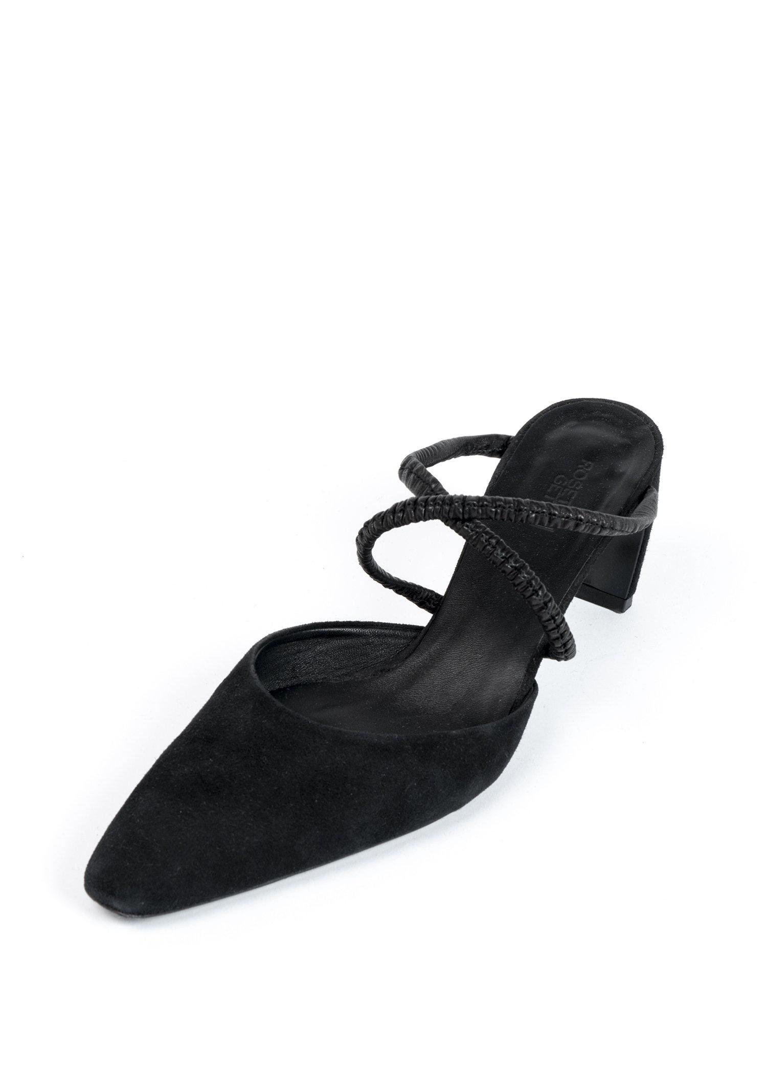 Suede Ruched Mules 1
